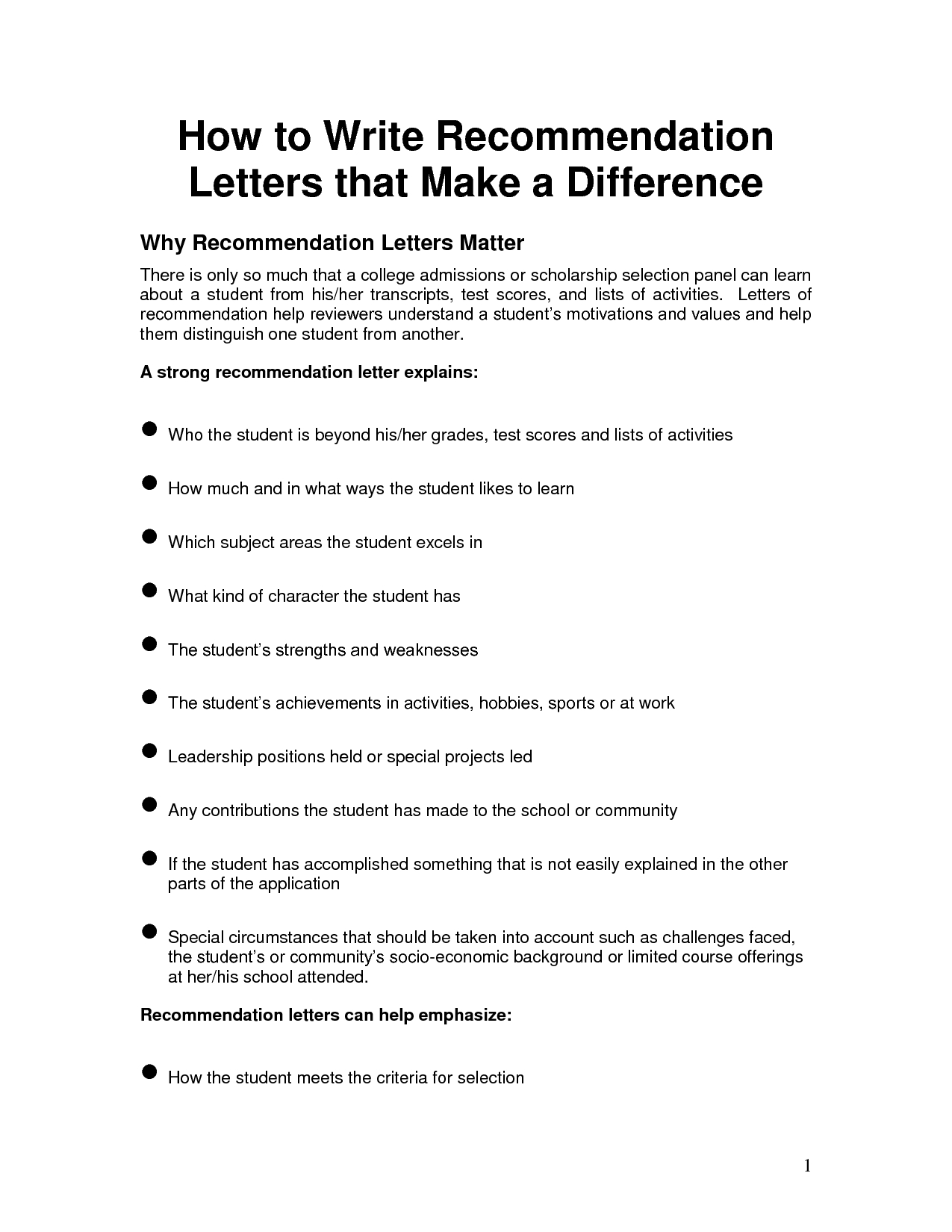 professional letter of recommendation template