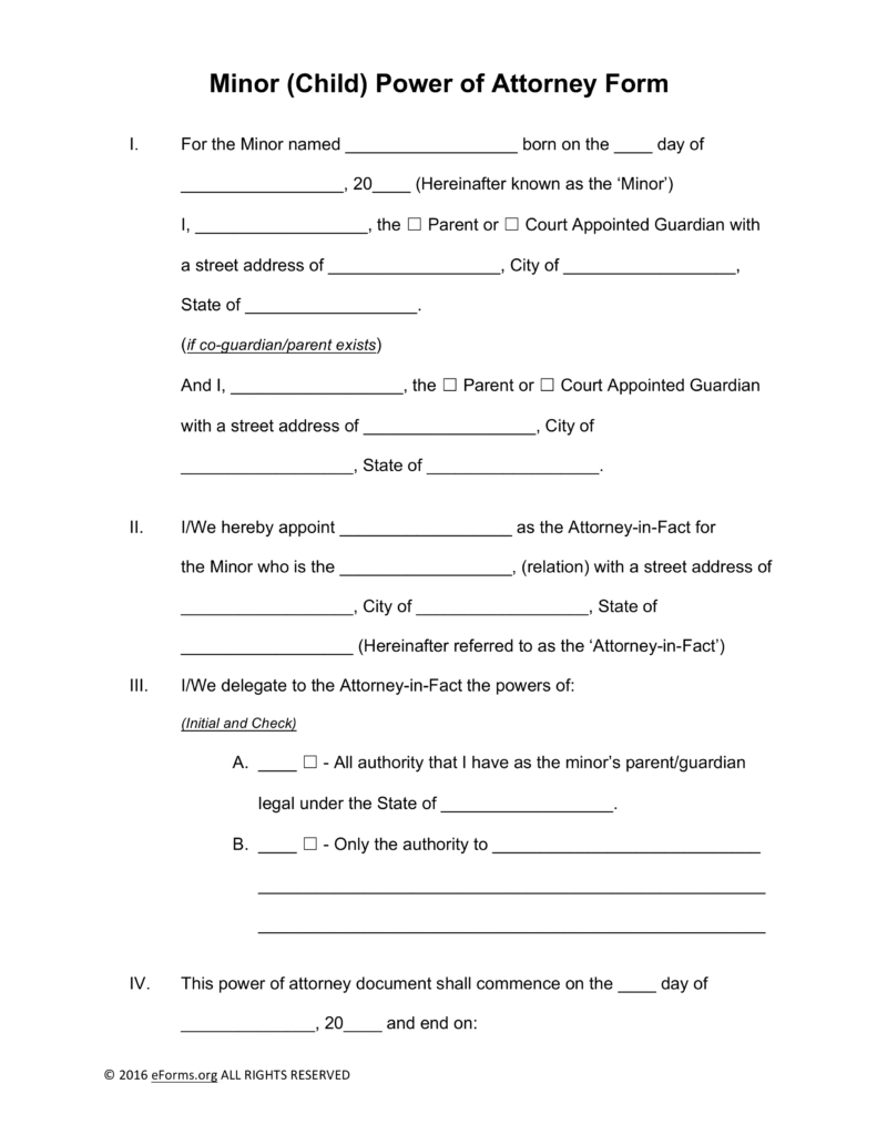 How to Write A Power Of attorney Letter Template - Free Minor Child Power Of attorney forms Pdf Word