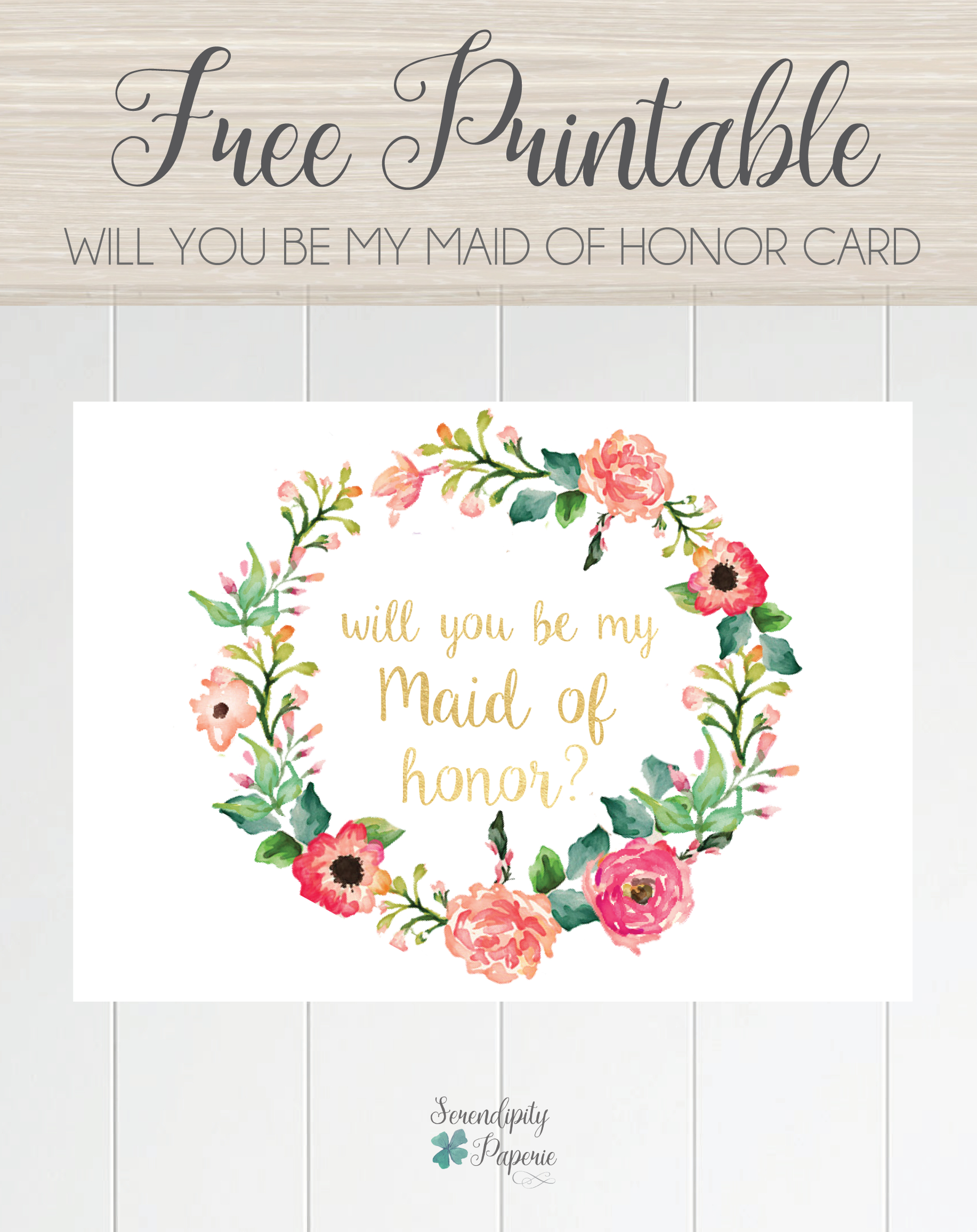 will you be my bridesmaid letter template Collection-Free printable will you be my maid of honor card floral wreath bridesmaid card 17-c