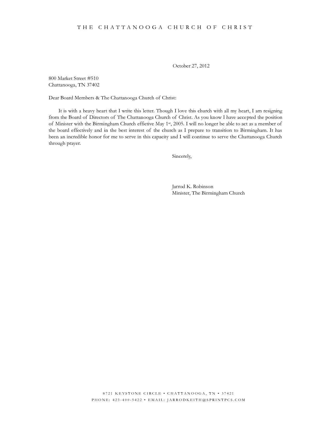 Free Resignation Letter Template Word Samples | Letter Templates