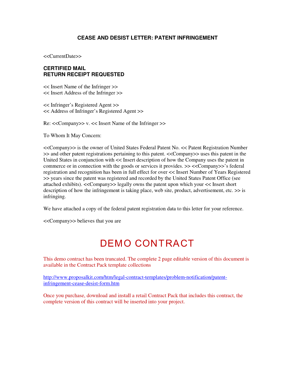 Cease and Desist Letter Trademark Infringement Template - Fresh Cease and Desist Template Your Template Collection