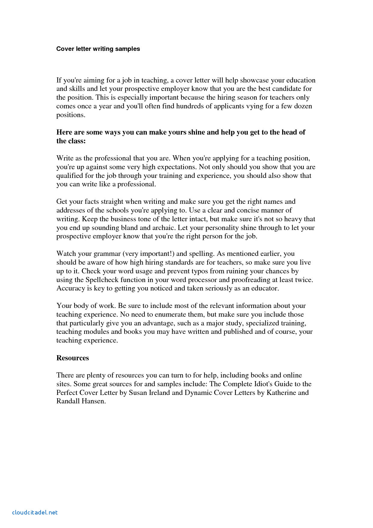 English Cover Letter Template - Fresh Contoh Cover Letter In English