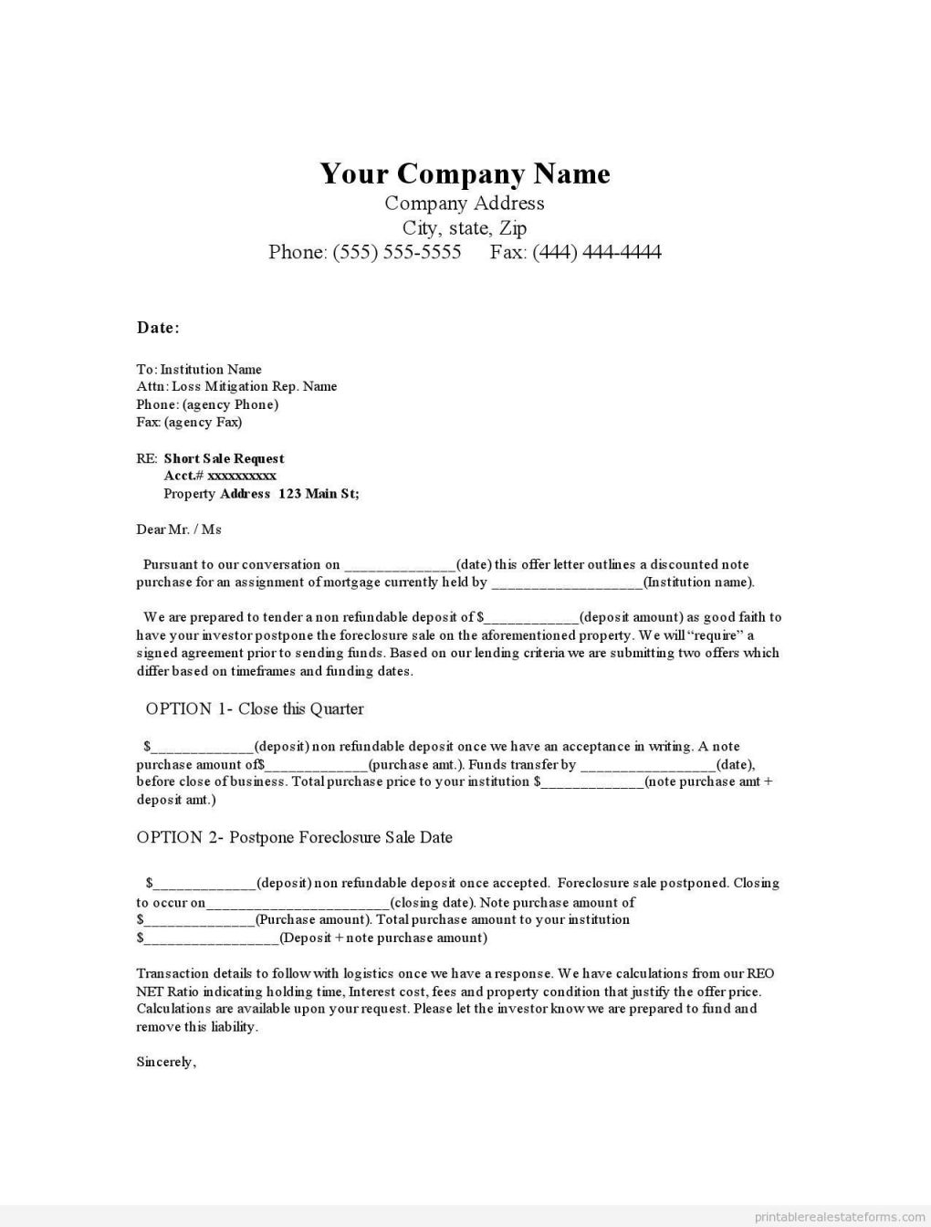 Foreclosure Letter Template - Fresh Fer to Purchase Template Tg47 – Documentaries for Change