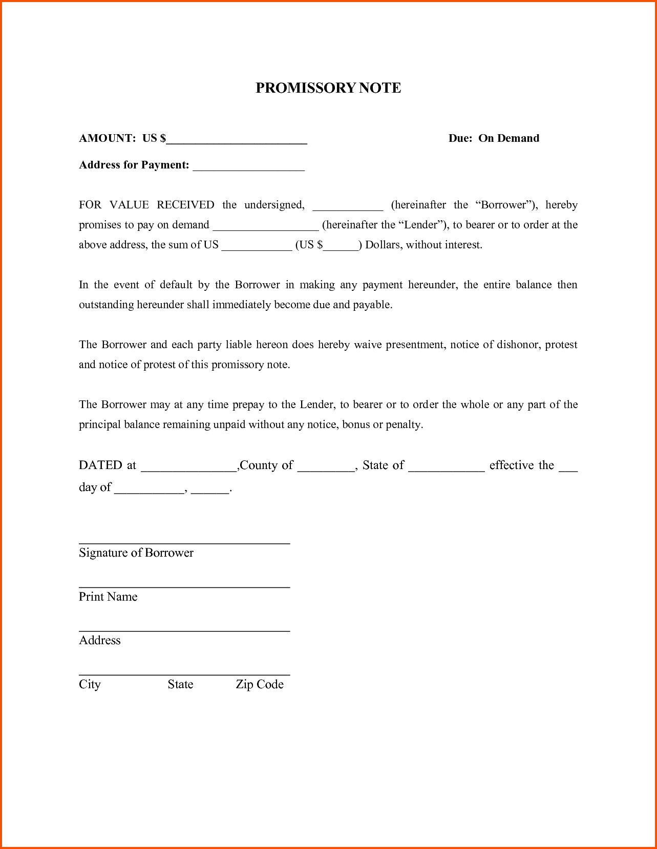 promissory letter template Collection-Fresh Promissory Note Template Word 3-t