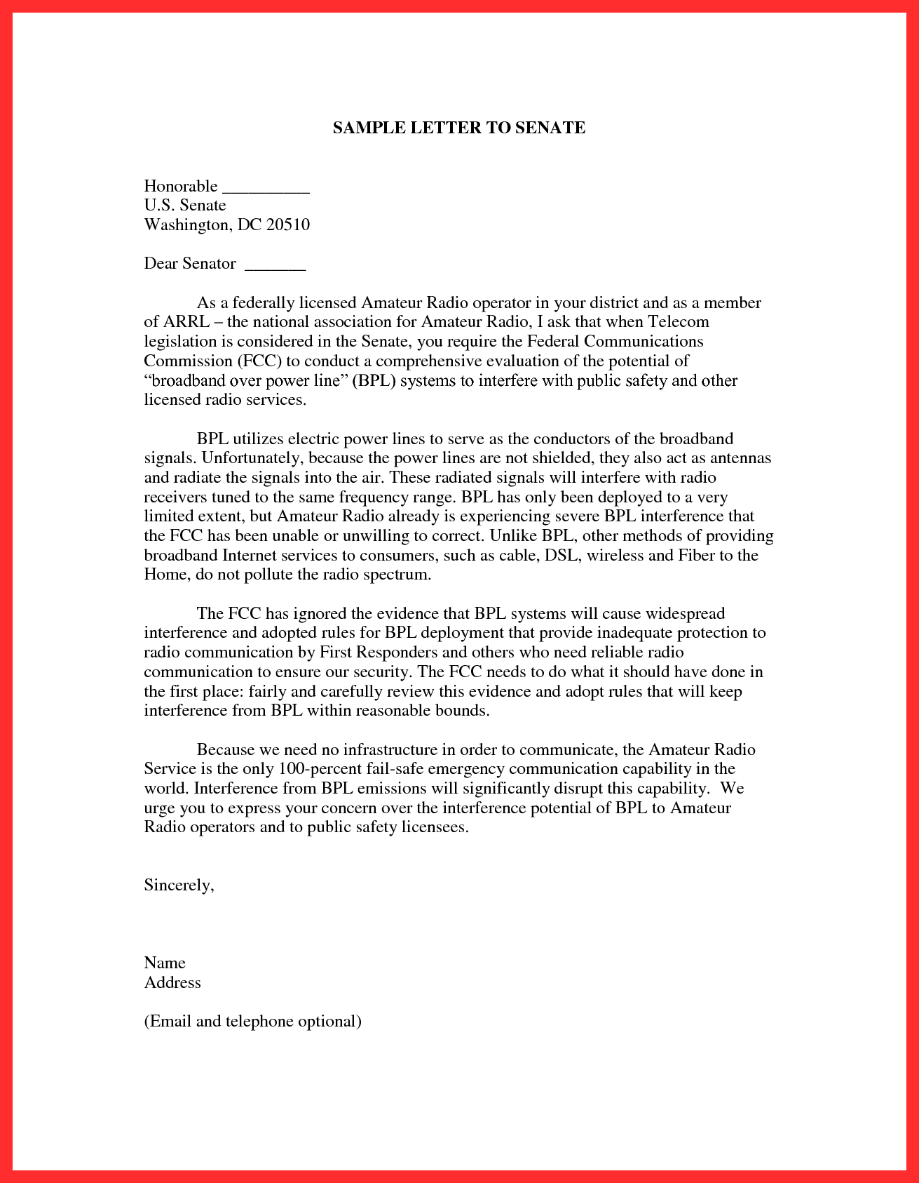 letter to congressman template example-Fresh Writing A Letter to Congress 1-f