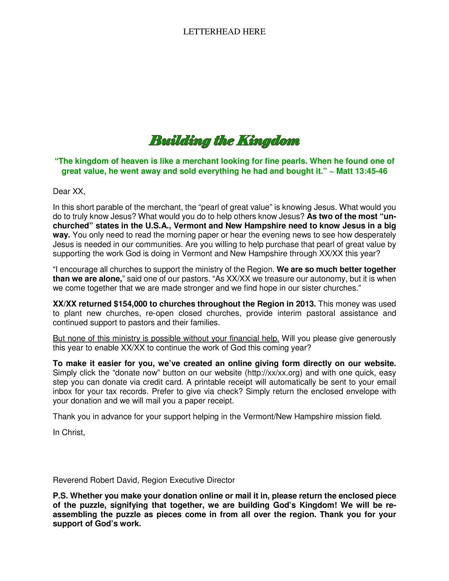 Donation Letter Template for Fundraiser - Fundraising Appeal Letters to Grab attention and Get Results by