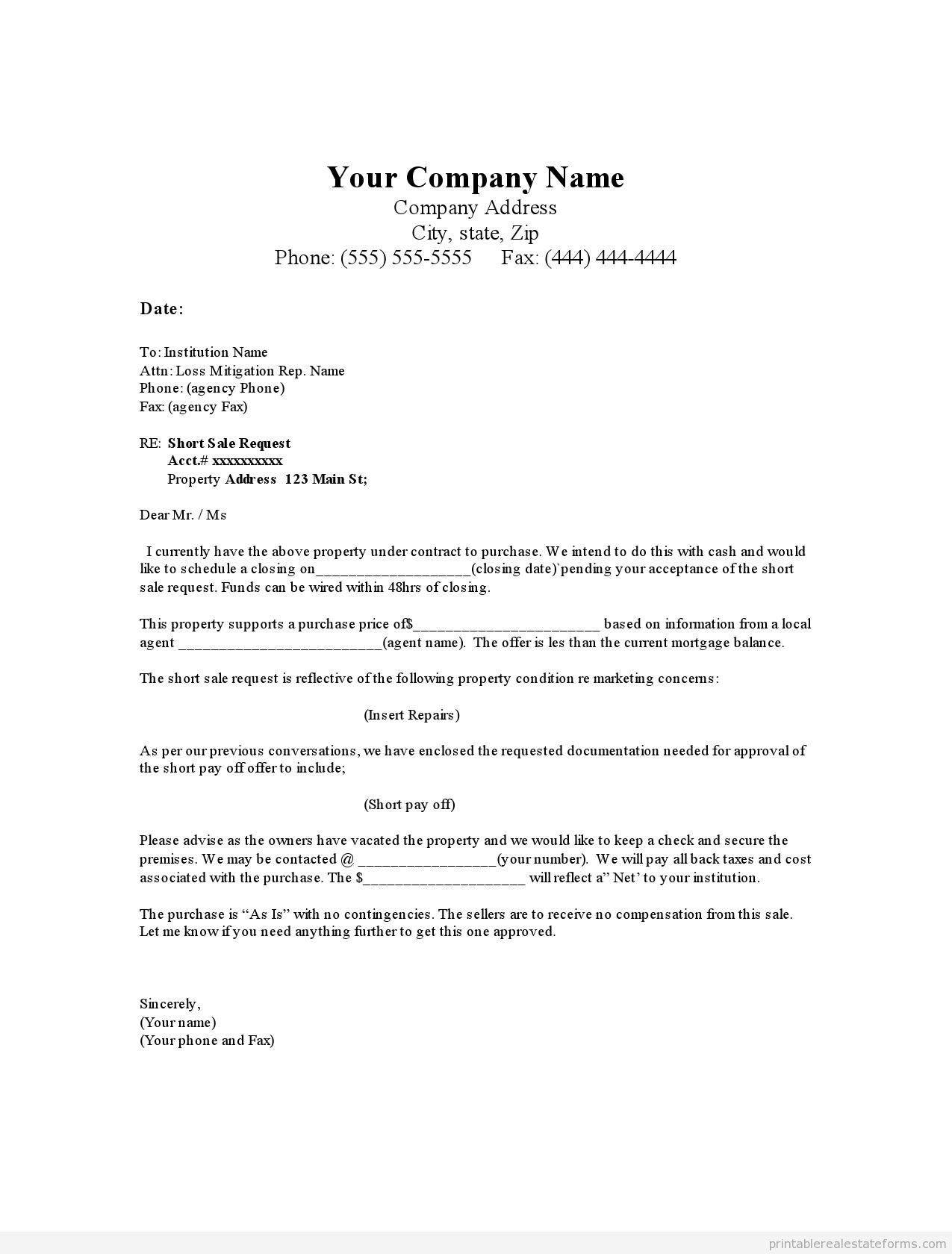Offer to Purchase Letter Template - Home Fer Letter Template Home Fer Letter Sample Ideas