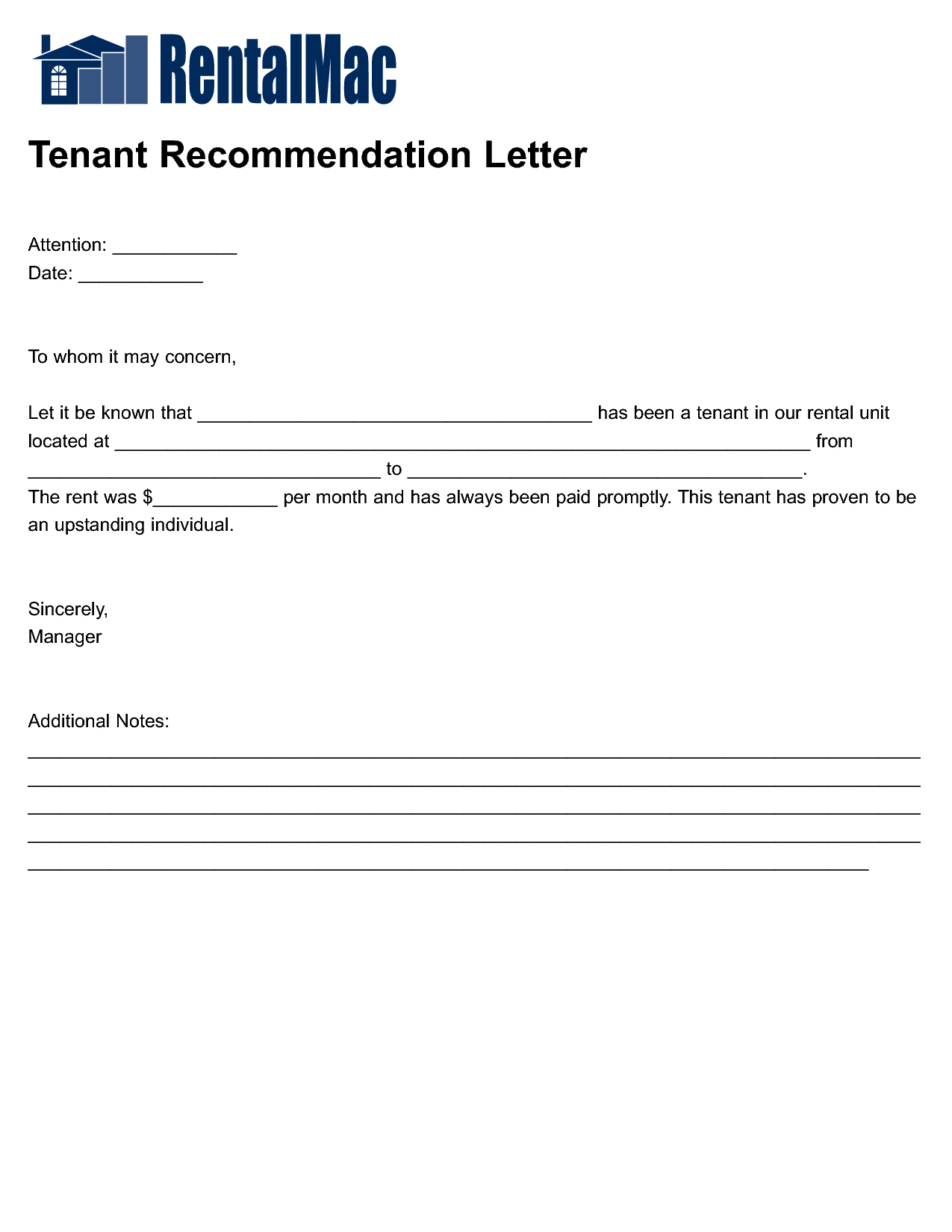 Tenant Reference Letter Template - Housing Reference Letter Letter format formal Sample