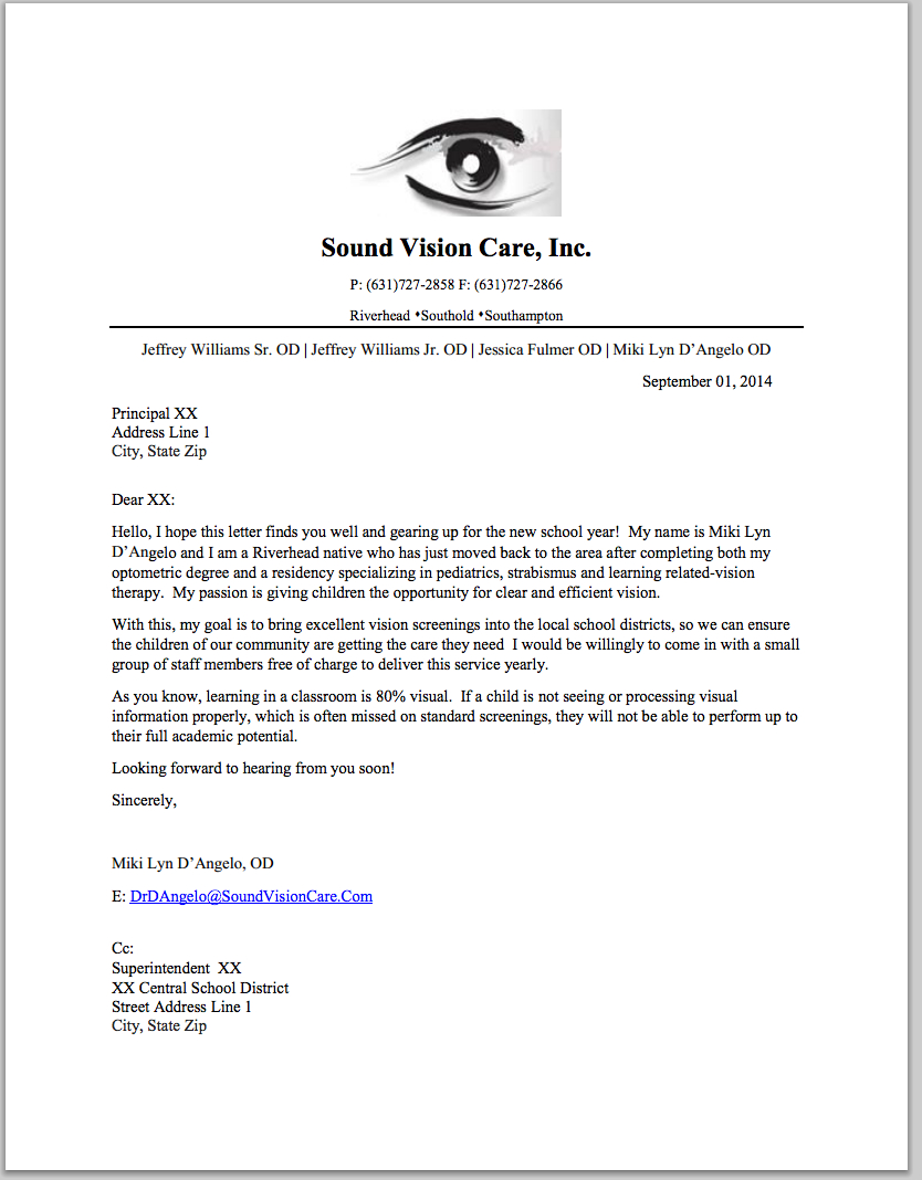 Therapist Marketing Letter Template - How to Get Referrals to Your Vision therapy Practice