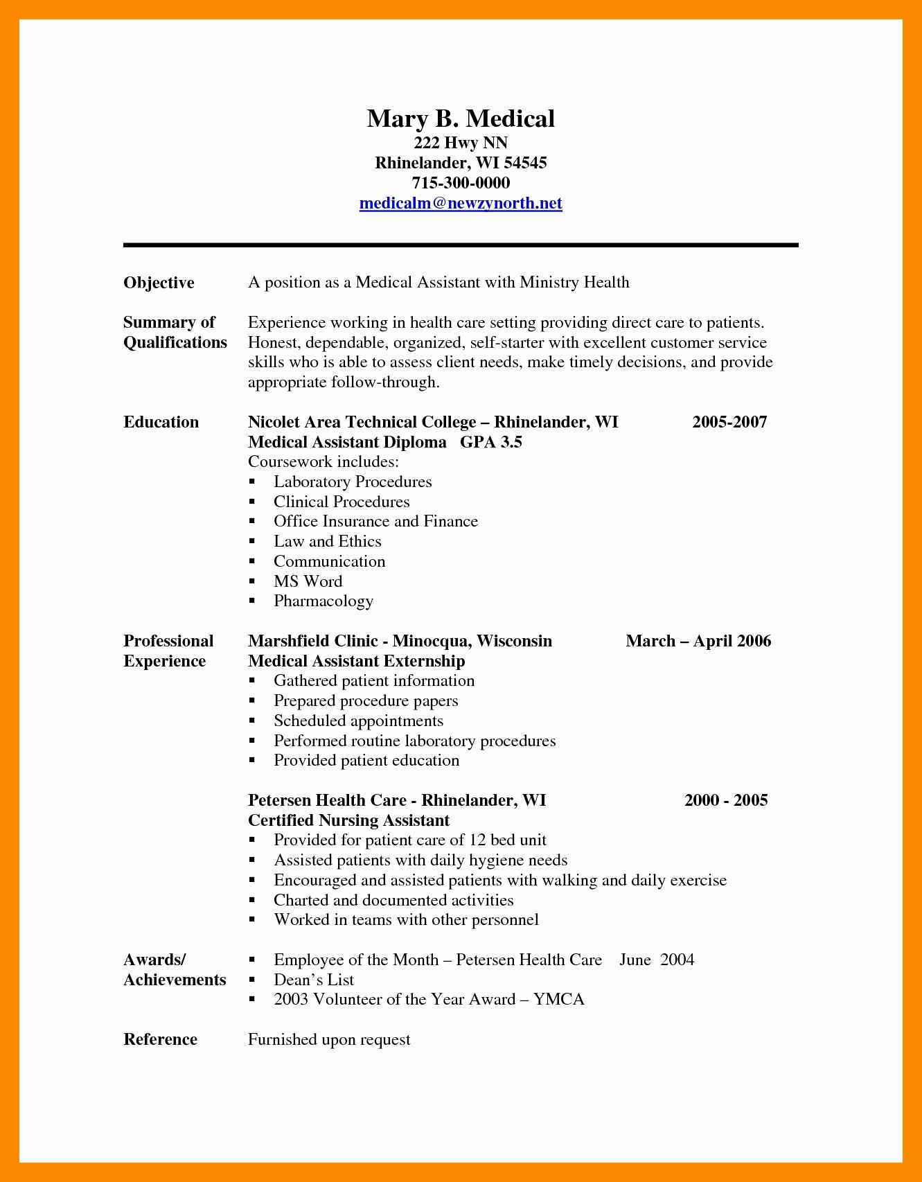 Medical Scribe Cover Letter Template - How to Make A Resume for A Medical assistant Inspirational Sample