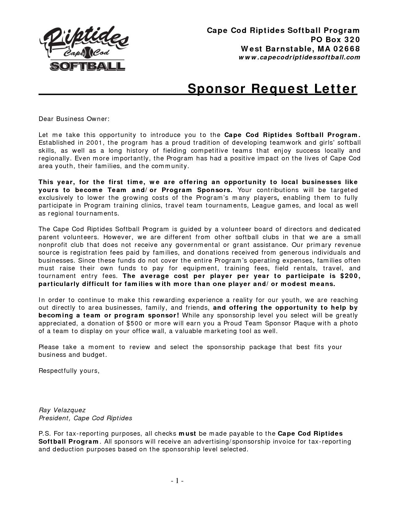 Sponsorship Letter Template for Donations - How to Write A Donation Request Letter Template Personalinjurylove