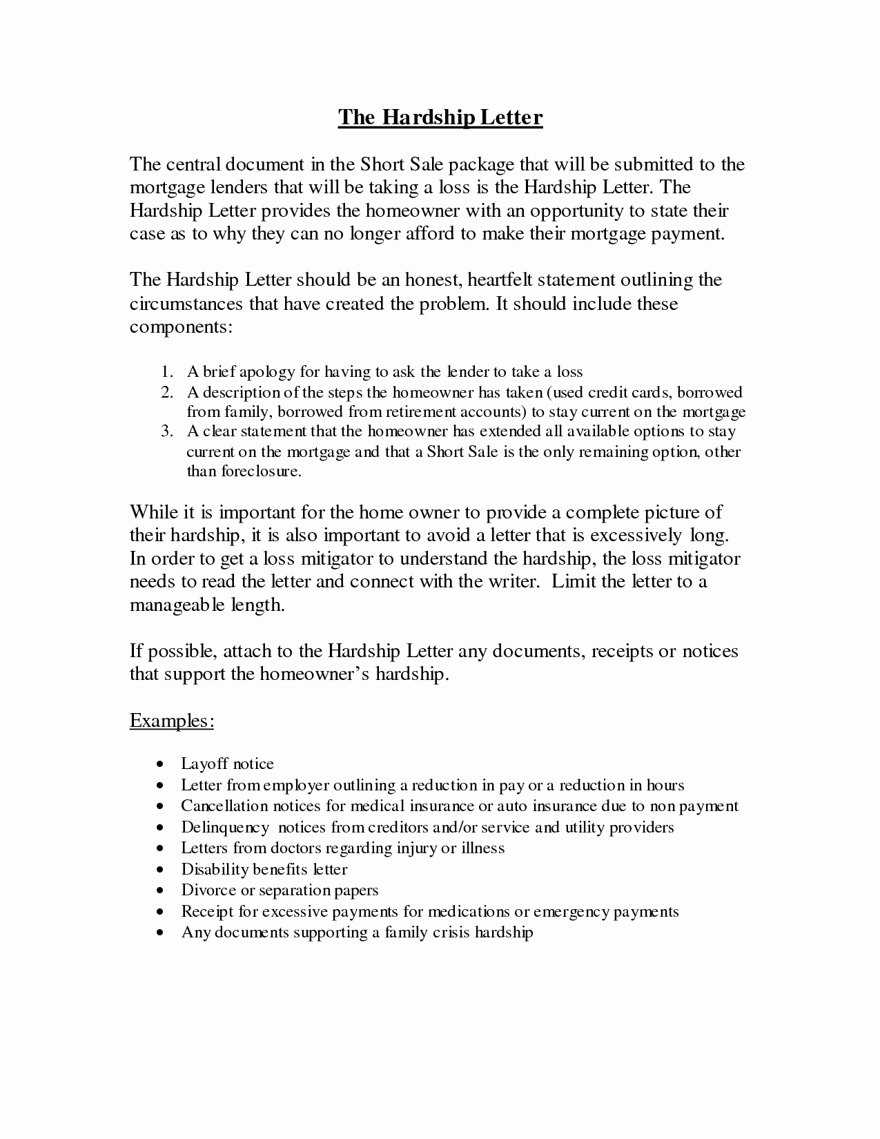 Mortgage Hardship Letter Template - How to Write A Hardship Letter for Immigration for A Friend Unique