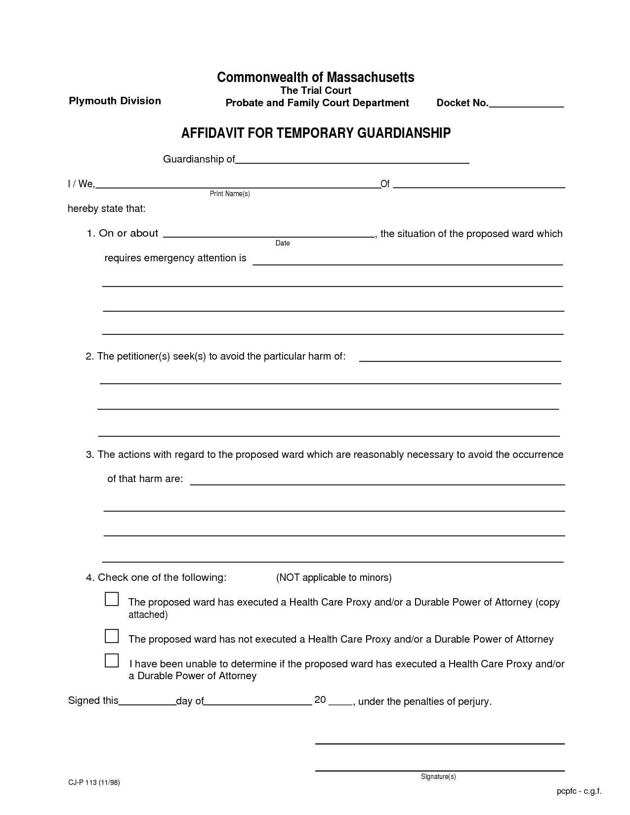 Free Temporary Guardianship Letter Template - How to Write A Letter for Guardianship Letter format formal