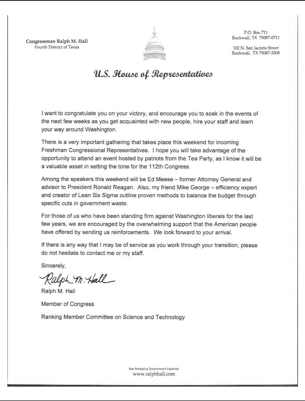 Letter to Congressman Template - How to Write A Letter to A Representative Letter format