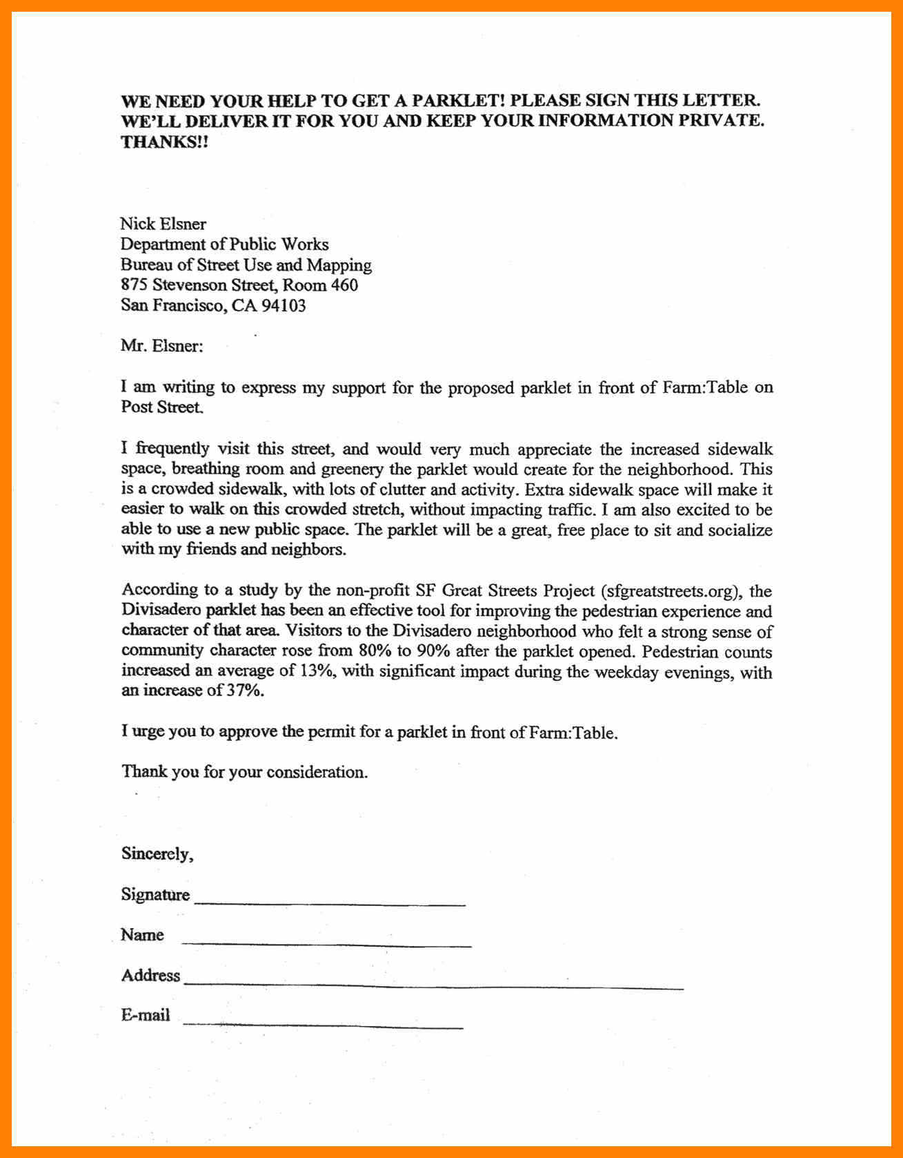 Petition Letter Template Collection