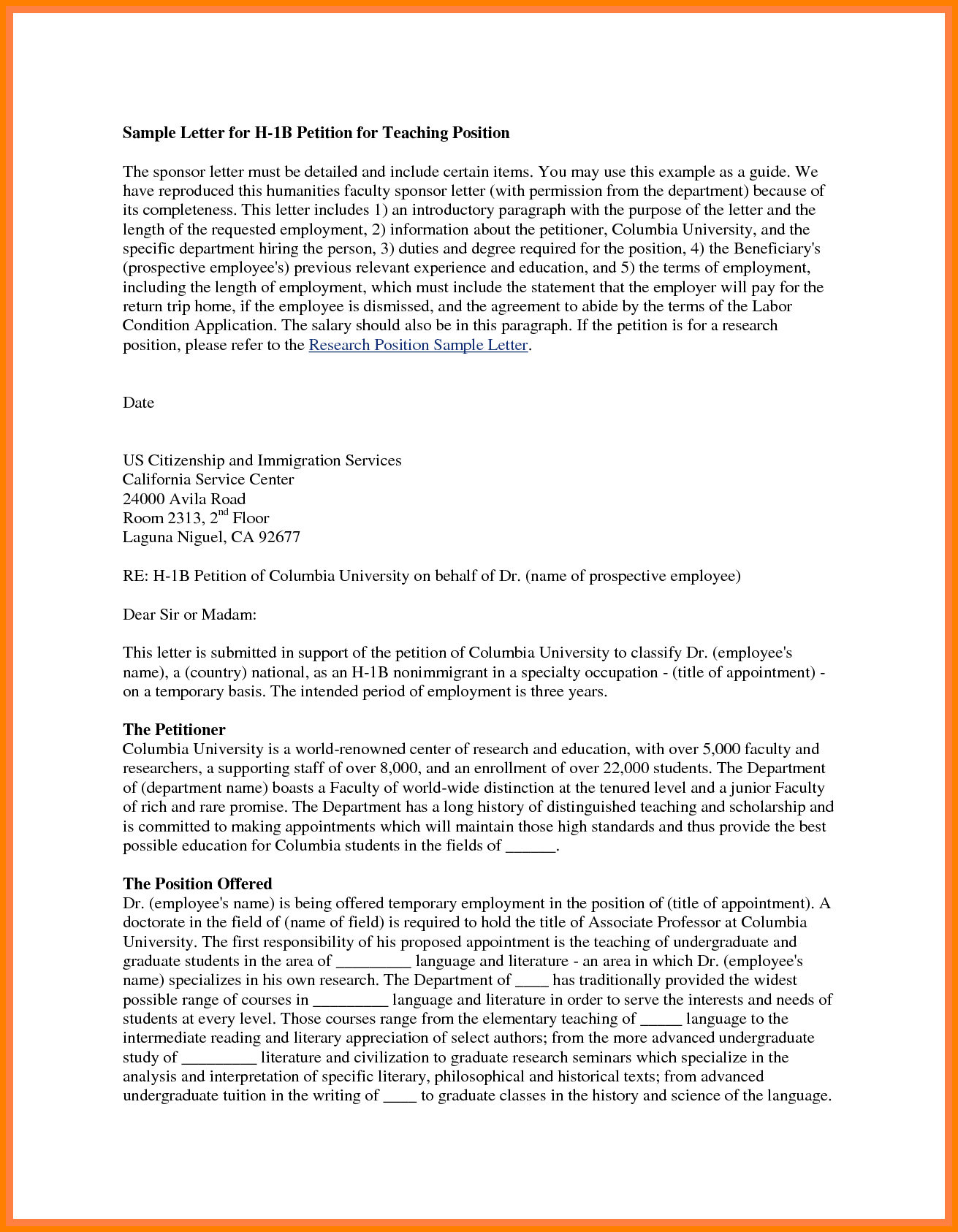 Petition Letter Template Collection   Letter Templates