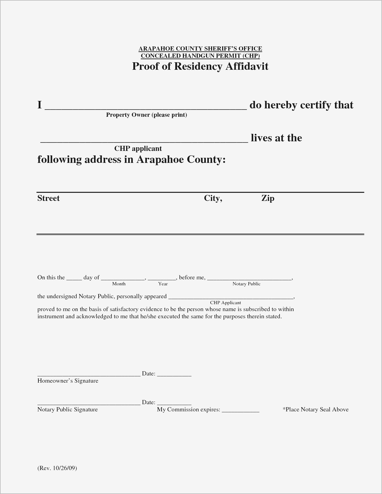 Proof Of Residency Letter Notarized Template - How to Write A Proof Residency Letter New Printable Notarized