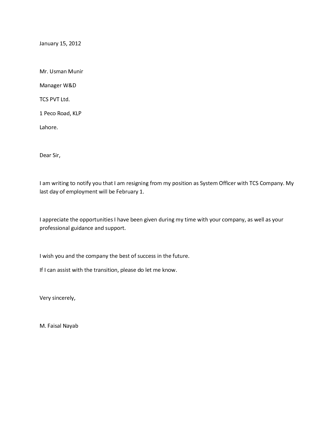 Official Letter Of Resignation Template - How to Write A Proper Resignation Letter Images