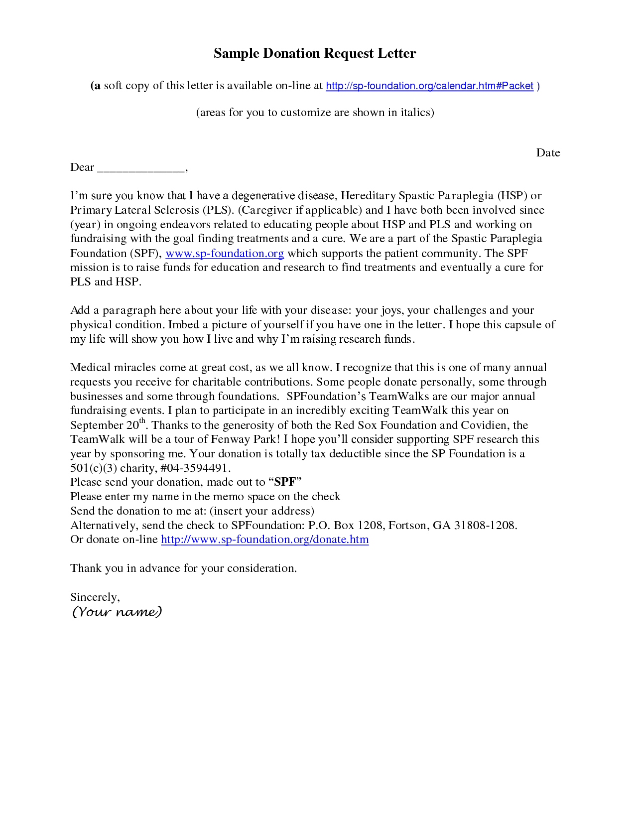 Charitable Contribution Letter Template - How to Write A solicitation Letter for Donations Choice Image