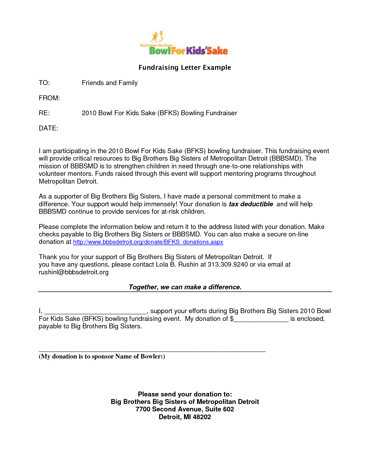 Donation Letter Template for Fundraiser - How to Write A solicitation Letter for Donations Choice Image