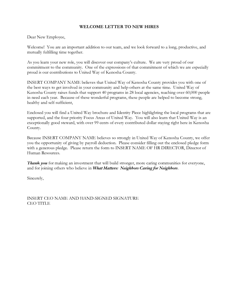Welcome to the Neighborhood Letter Template - How to Write A Wel E Letter to A New Employee Letter