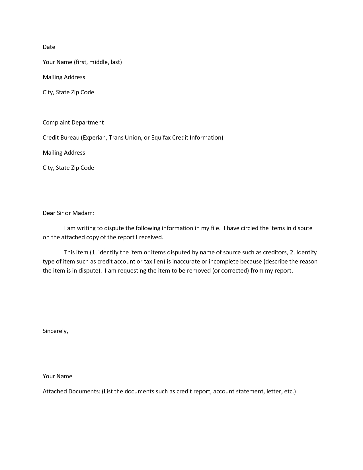 Dispute Letter to Credit Bureau Template - How to Write Letter to Dispute Credit Report Choice Image Letter