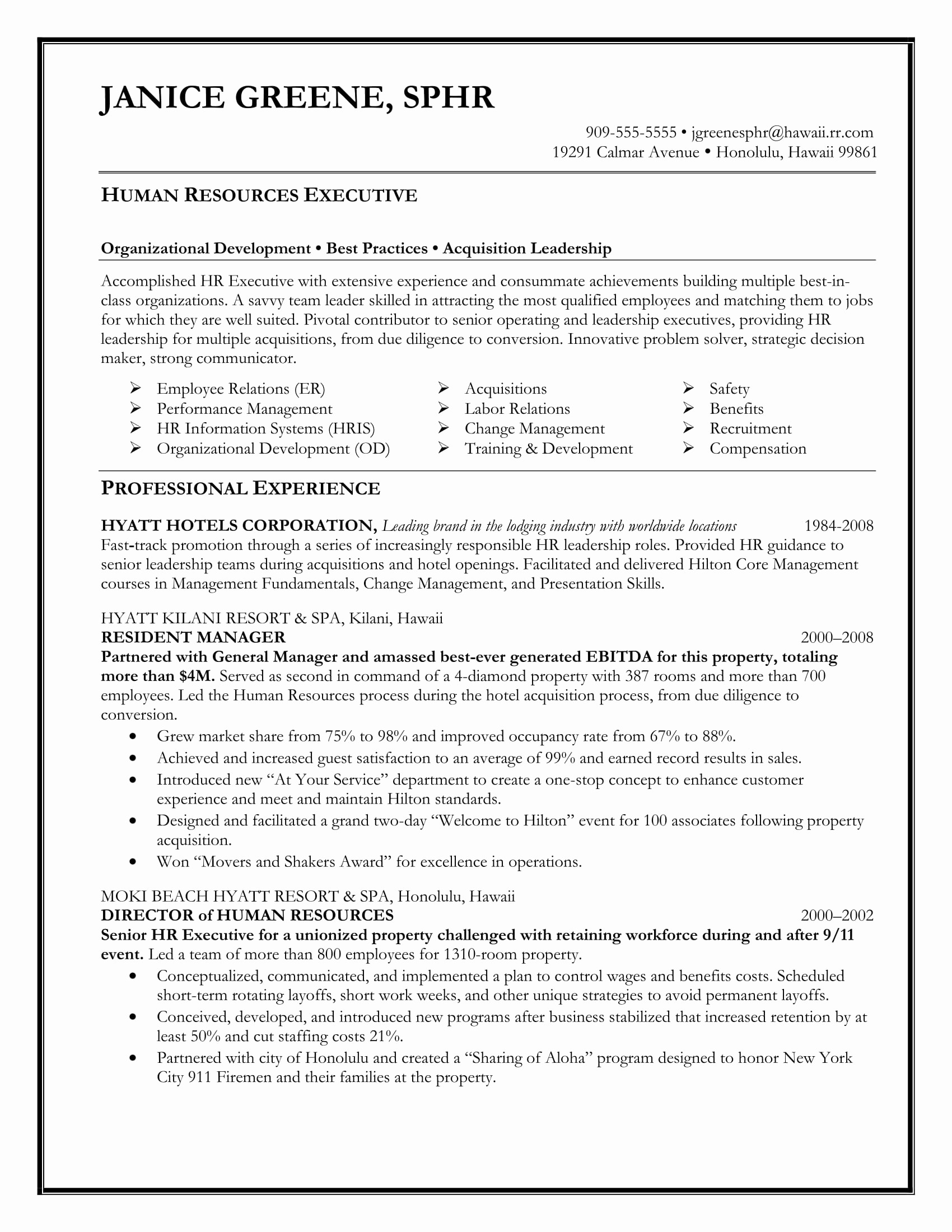 Cover Letter Template for Human Resources - Human Resource Documents Templates Beautiful Hr Resume Examples