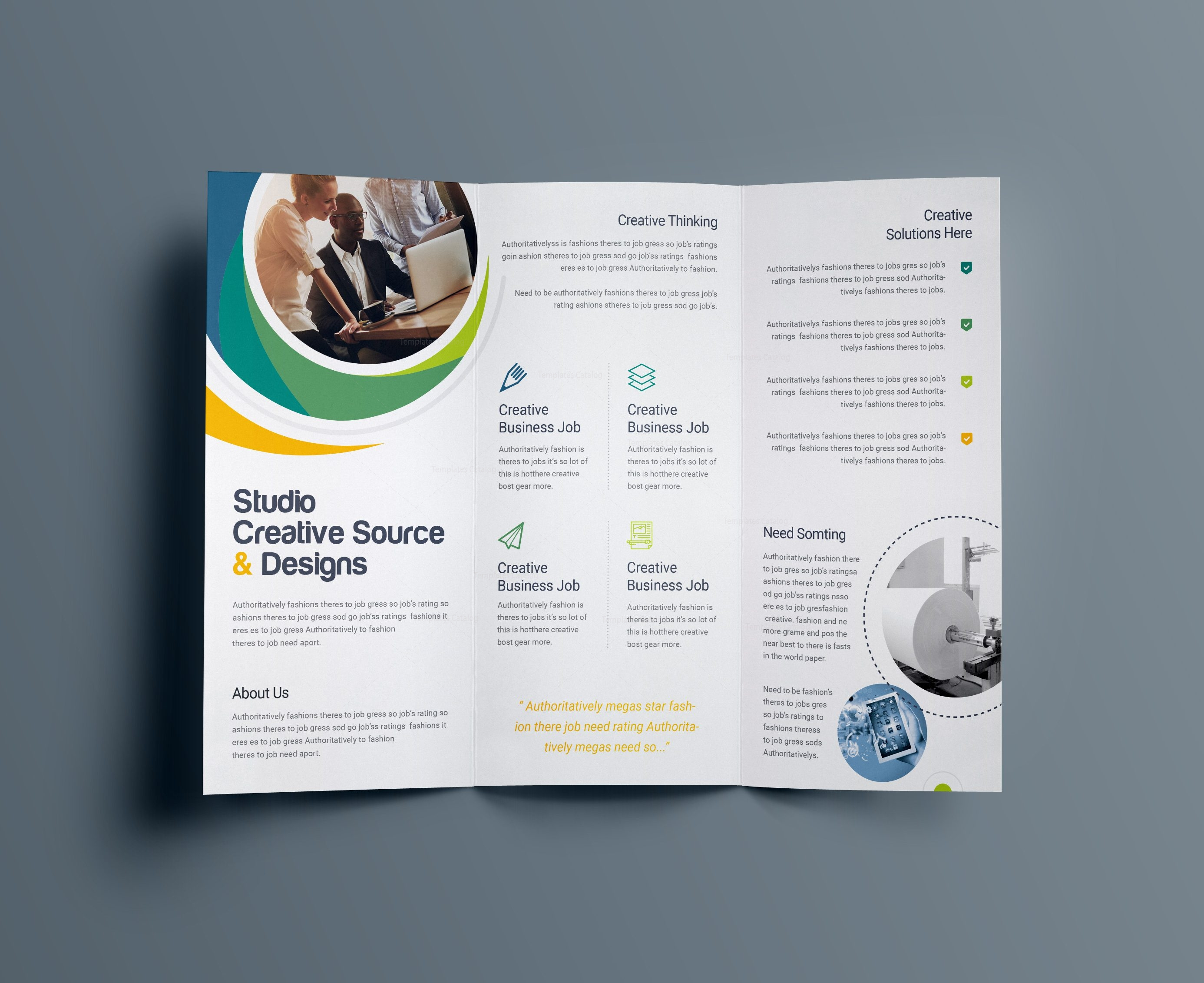 Letter Size Tri Fold Brochure Template - Hypnosis Professional Tri Fold Brochure Template Template