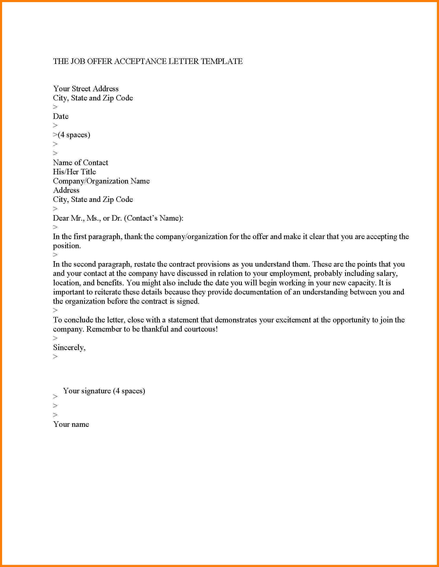 Employment Counter Offer Letter Template - Ideas Of Offer Letter Templates In Doc 50 Free Word Pdf Documents