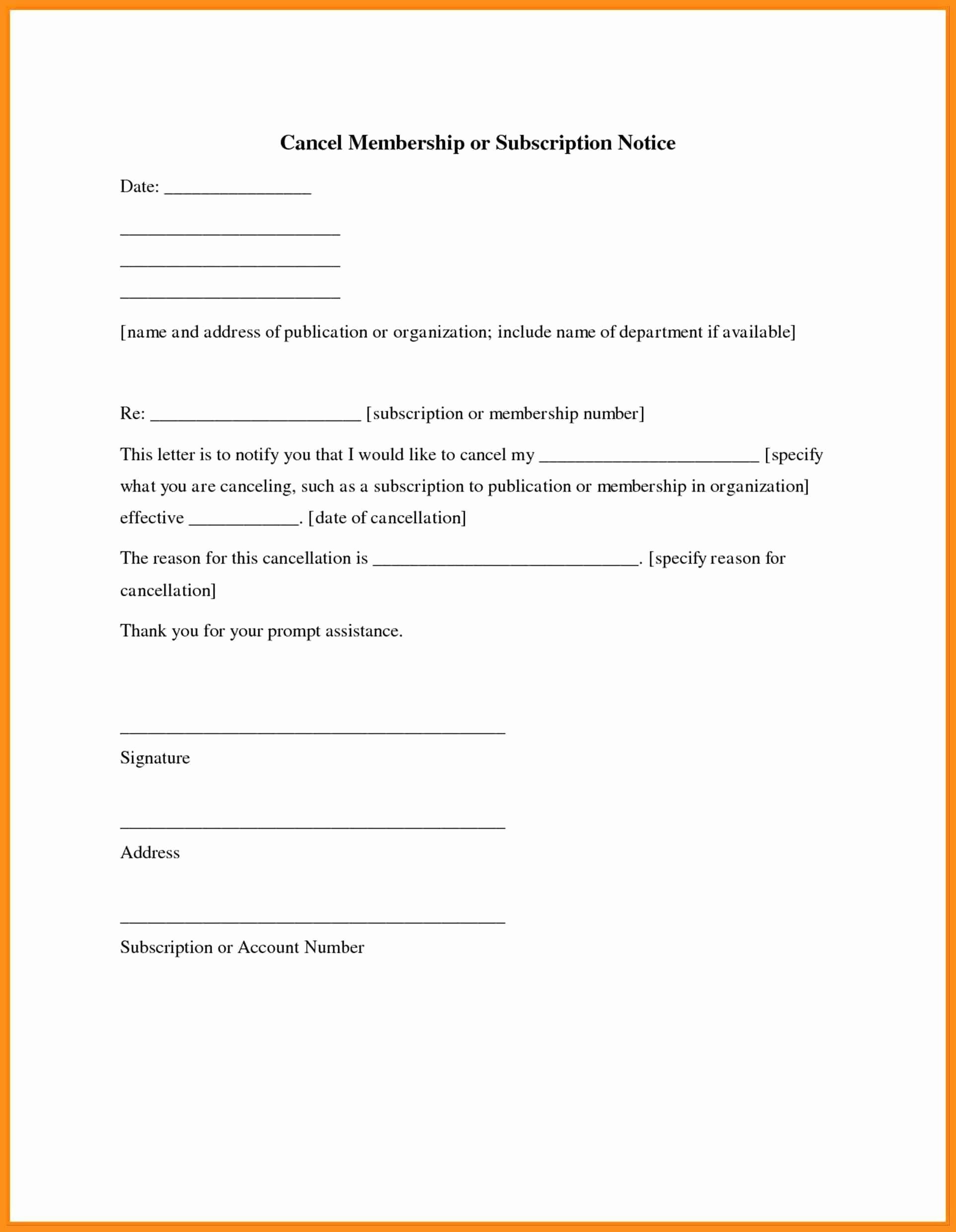 Insurance Cancellation Letter Template - Impressive Insurance Cancellation Letter Template