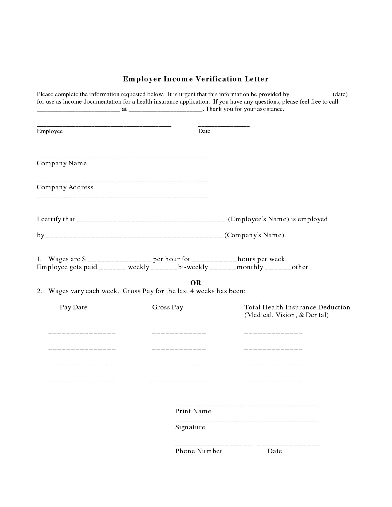 Employment Income Verification Letter Template - In E Verification form Template Unique 52 Lovely Line Credit