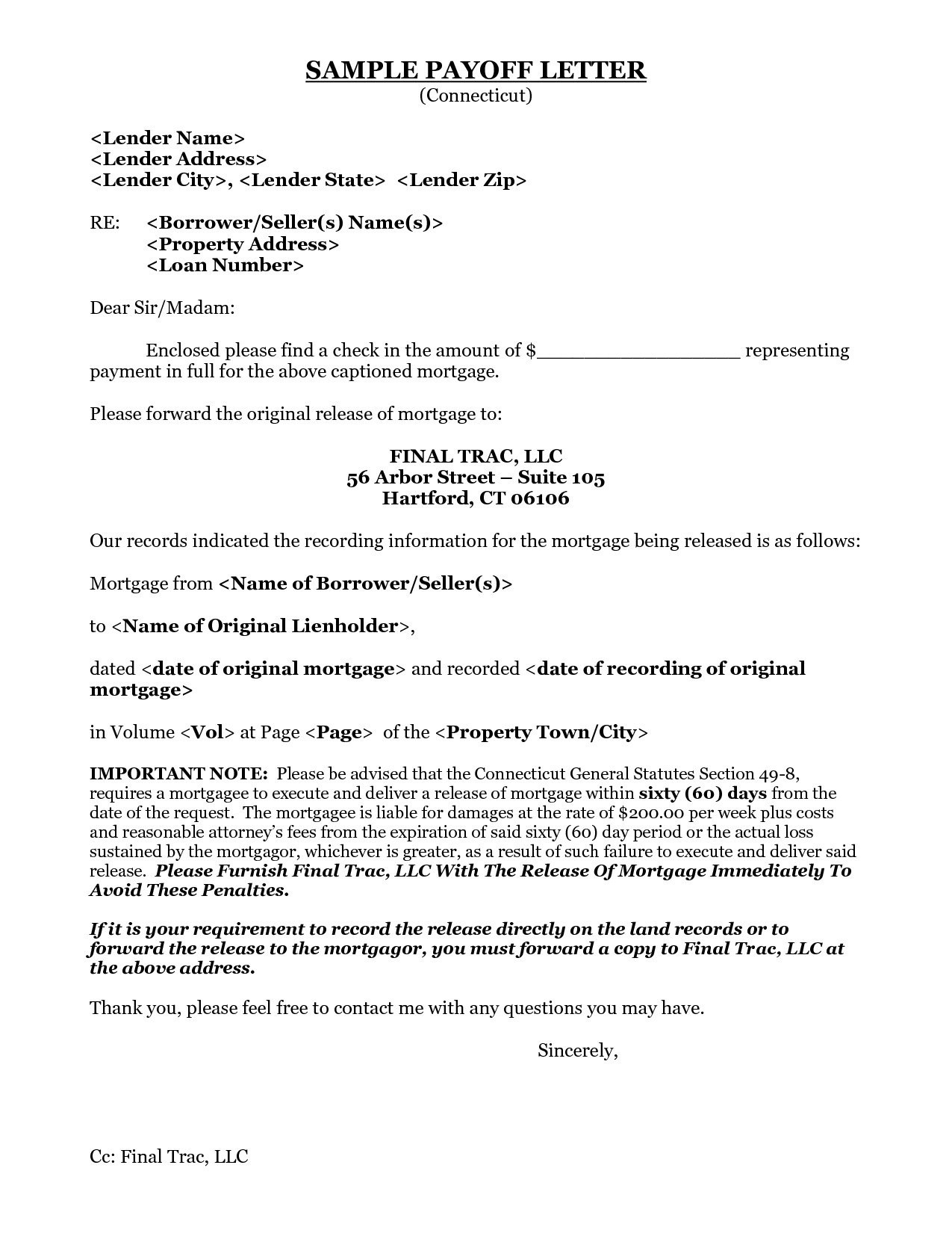 mortgage loan payoff letter template example-Inspiration 9 Best Sample Loan Payoff Letter form Loan Payoff New 8 Payoff Statement Template 3-e