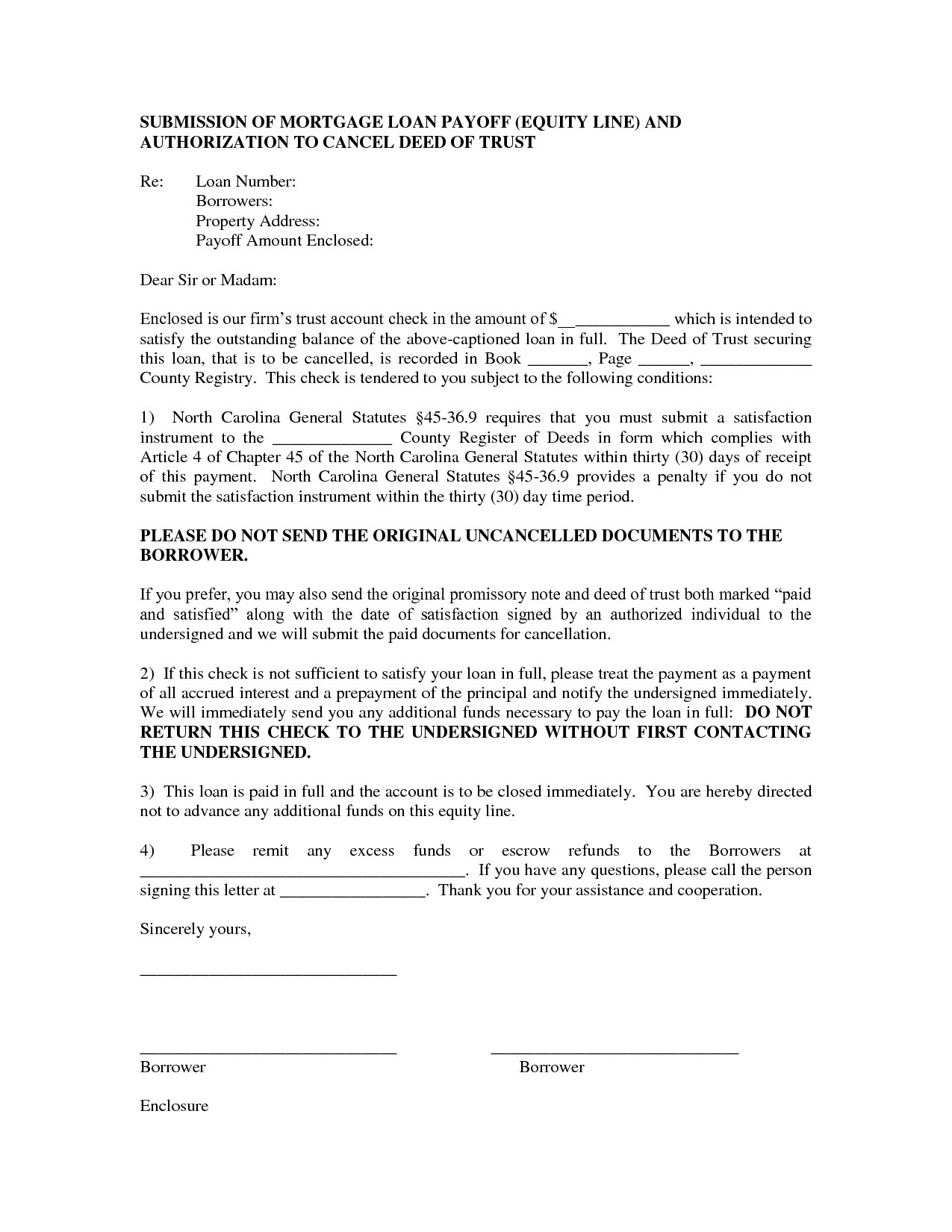 Loan Satisfaction Letter Template - Inspiration 9 Best Sample Loan Payoff Letter form Loan Payoff