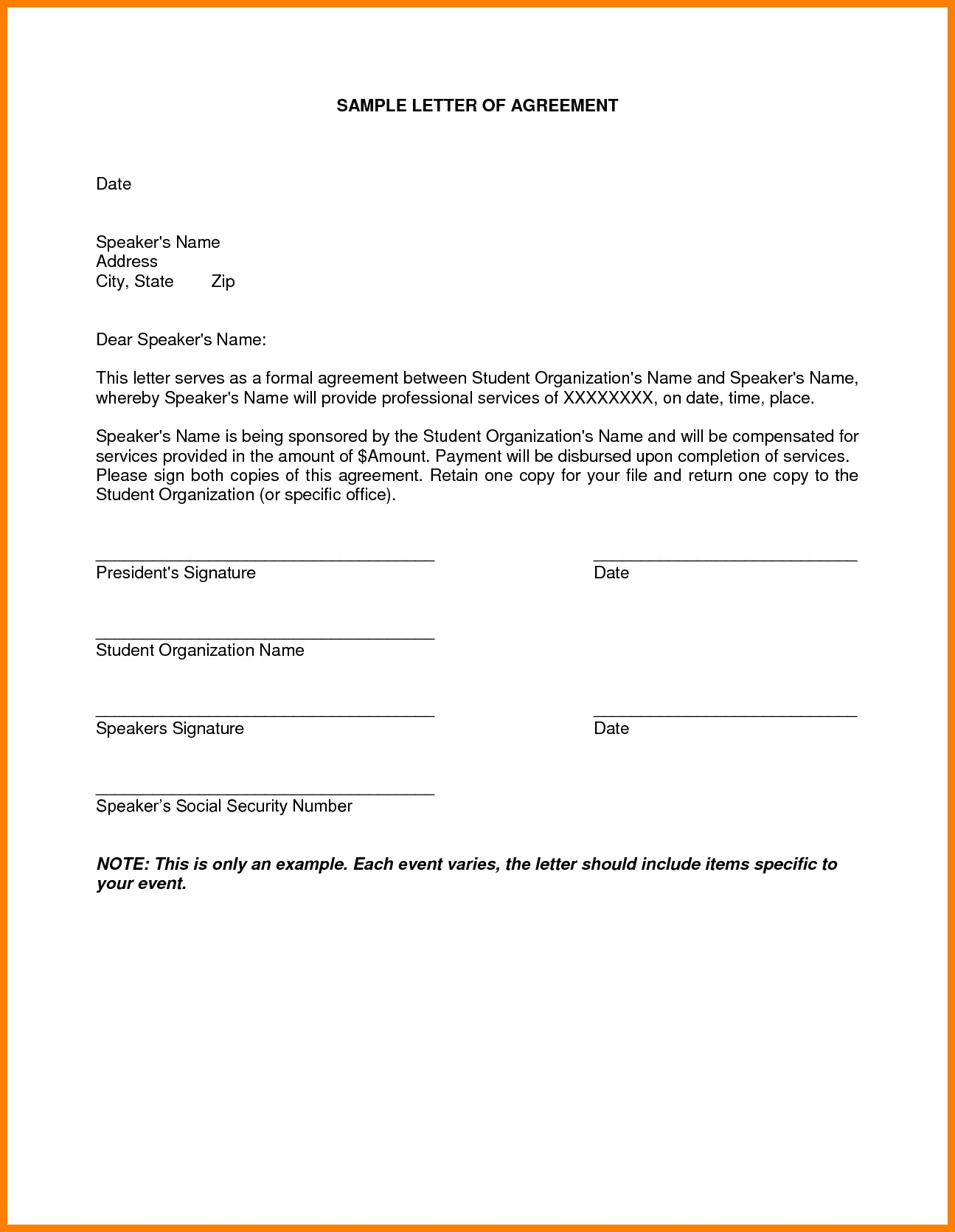 Mortgage Loan Payoff Letter Template