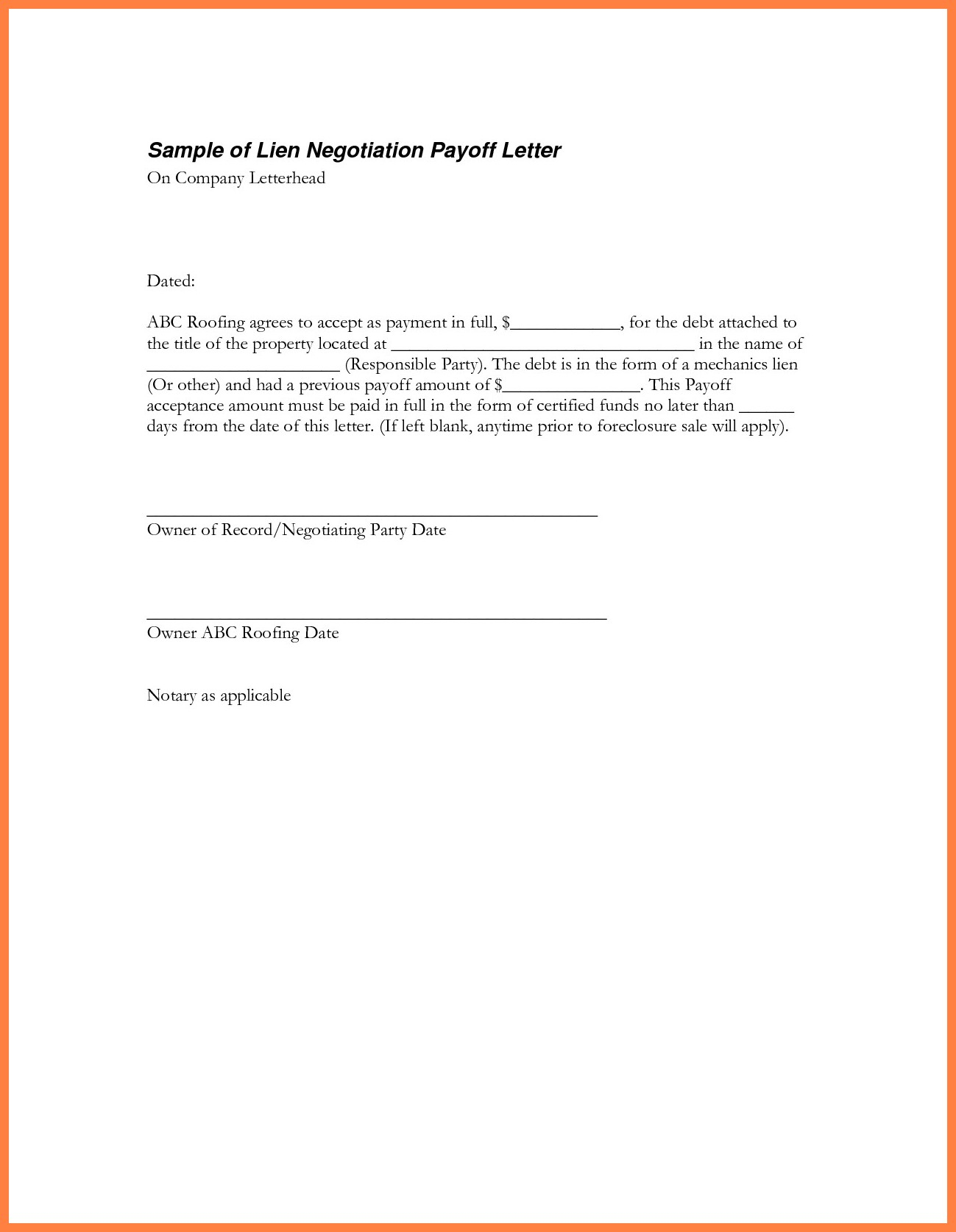 Personal Loan Payoff Letter Template - Inspiration 9 Best Sample Loan Payoff Letter form Loan Payoff