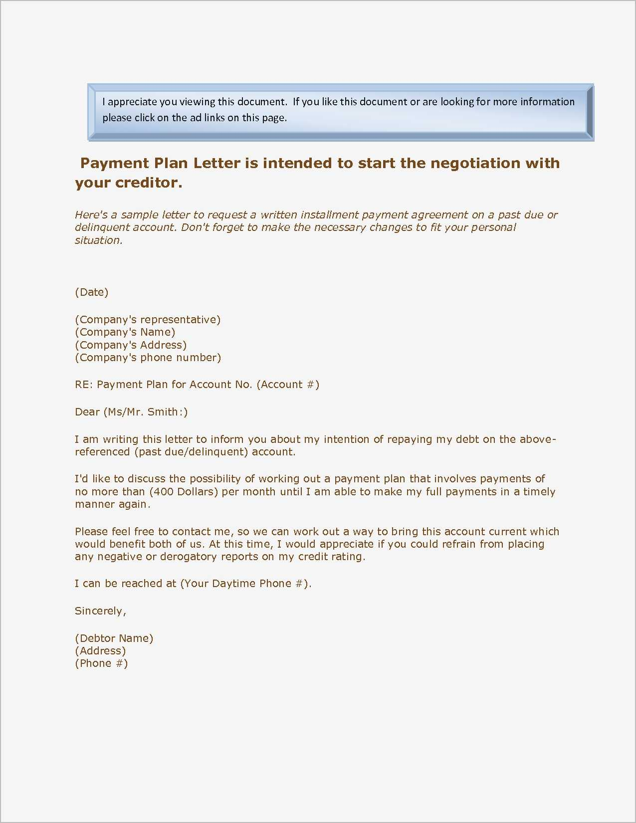 payment plan letter template Collection-Payment Agreement Letter Samples Download by size Handphone Tablet 13-b
