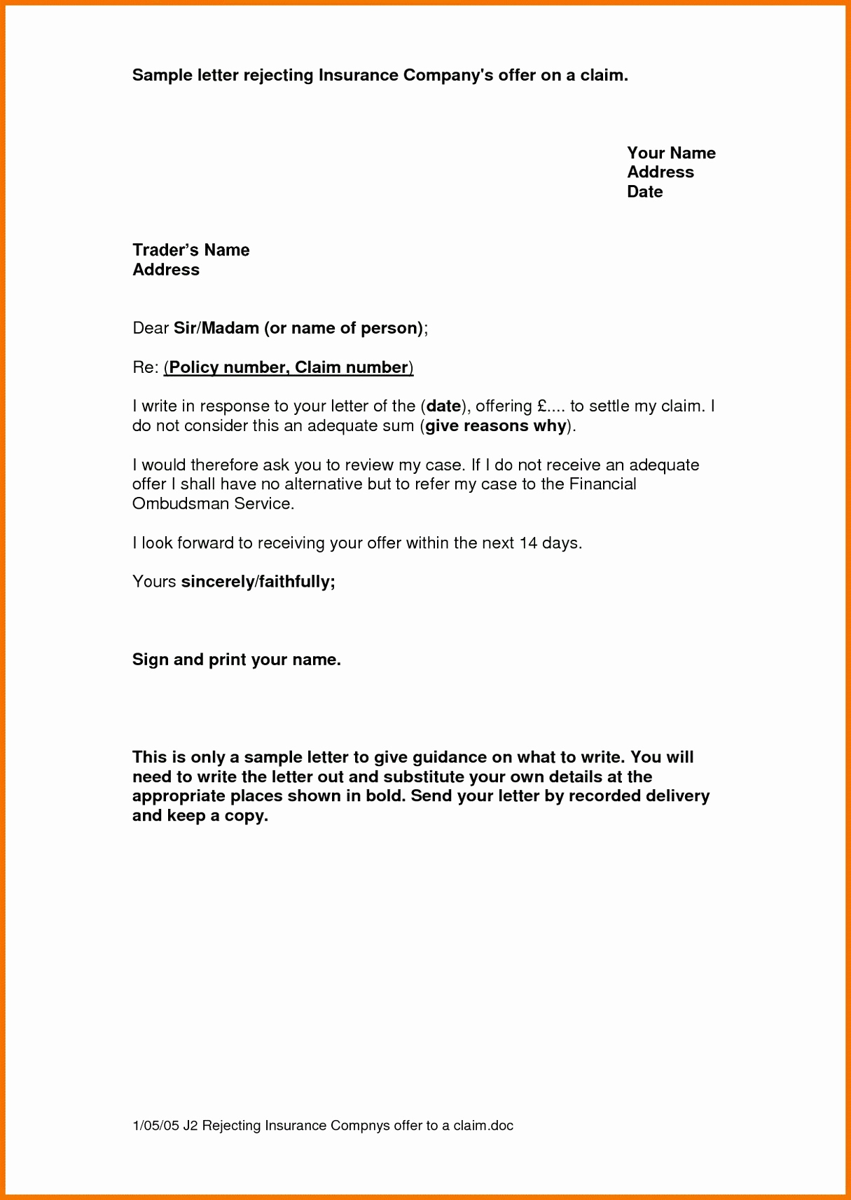 Insurance Demand Letter Template - Insurance Prospecting Letters Template Inspirational Sample