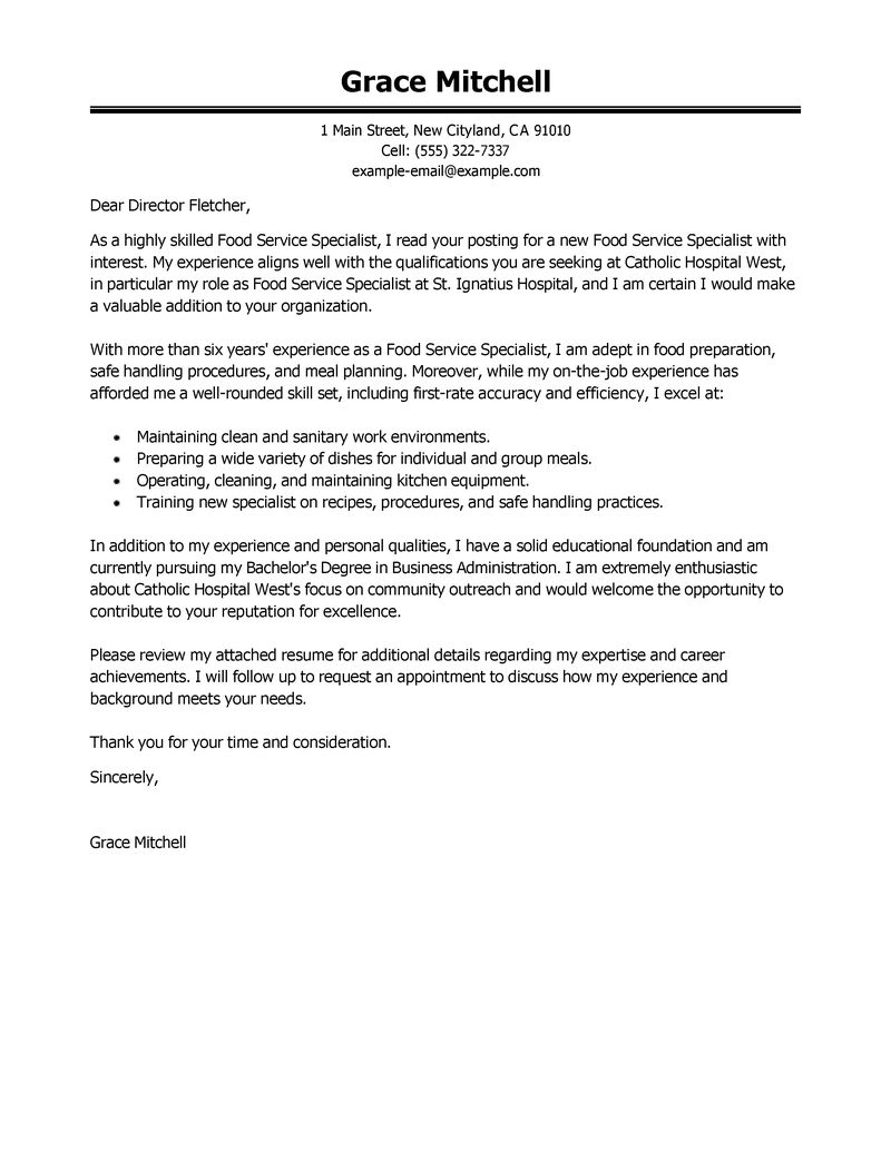 Cover Letter Template For Customer Service Job