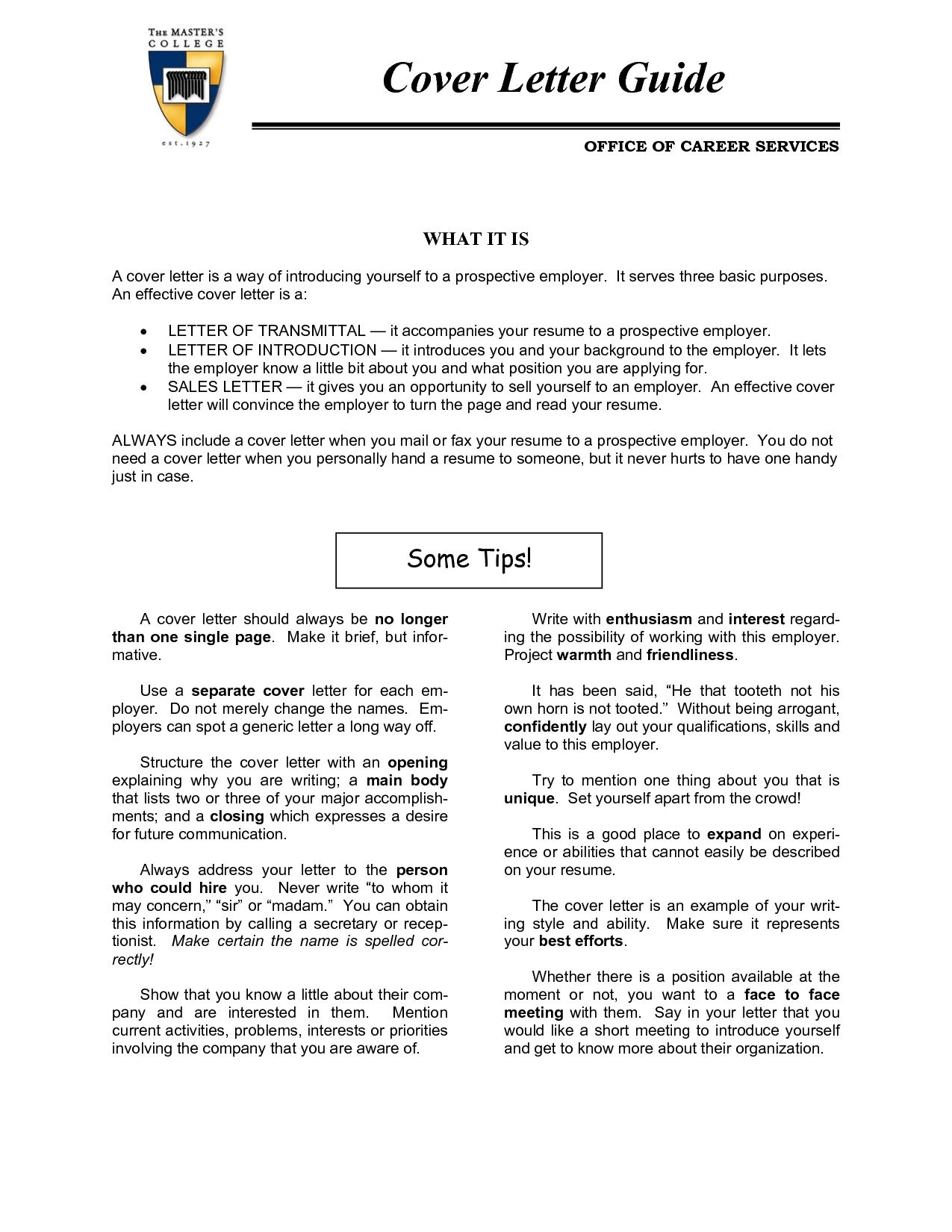 Transmittal Cover Letter Template Samples
