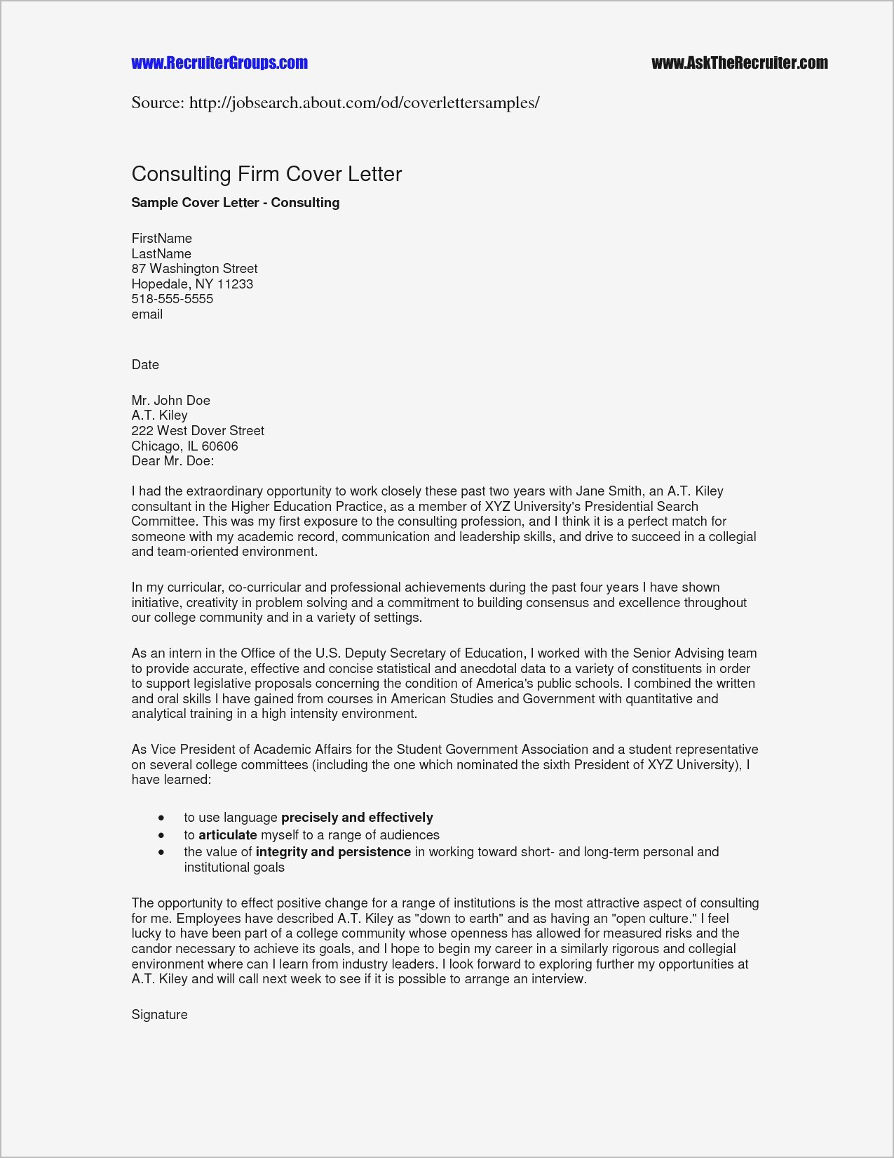 Cover Letter Template Pdf - Job Query Letter Refrence Example Cover Letter for Job Application