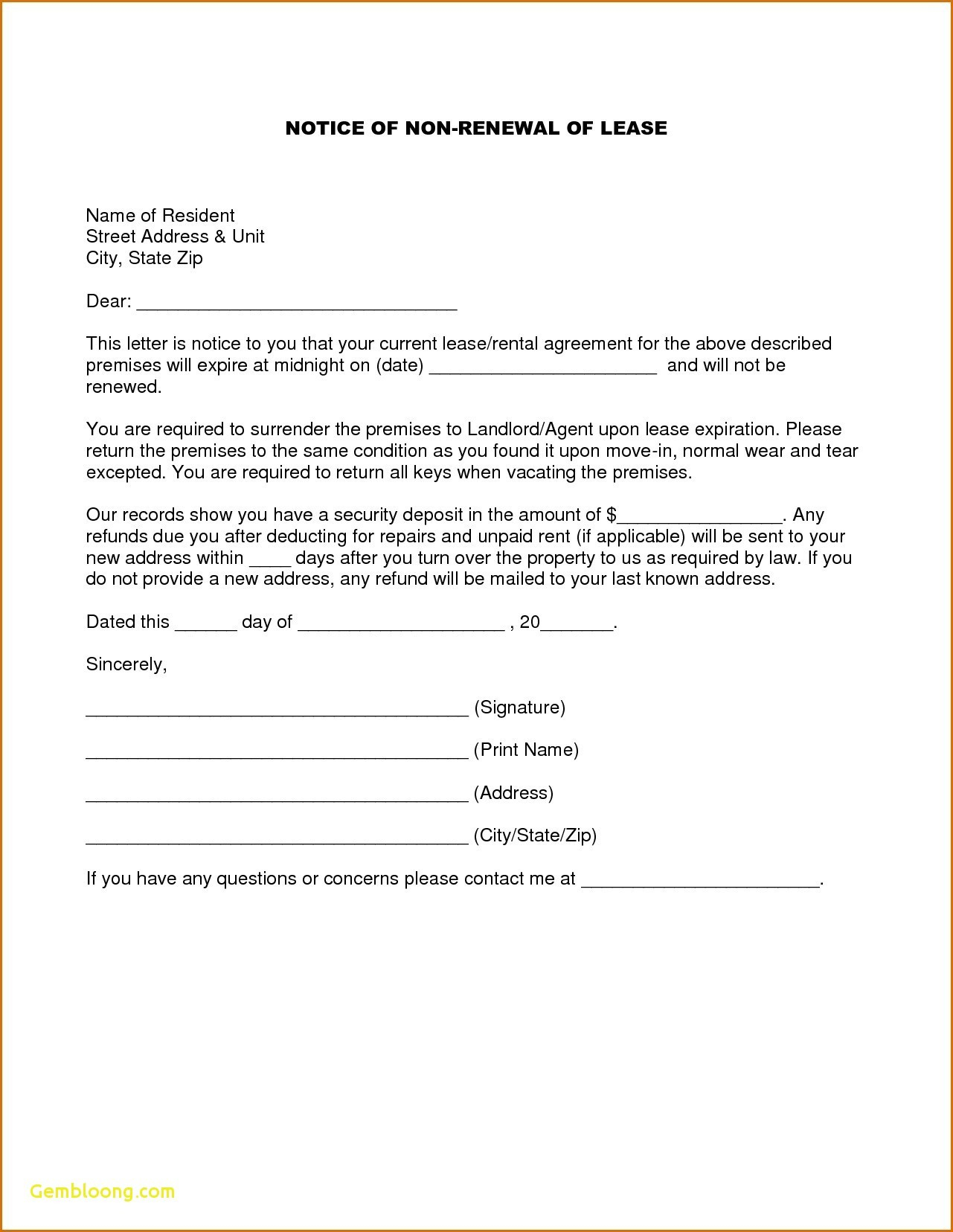 lease extension letter template samples letter templates