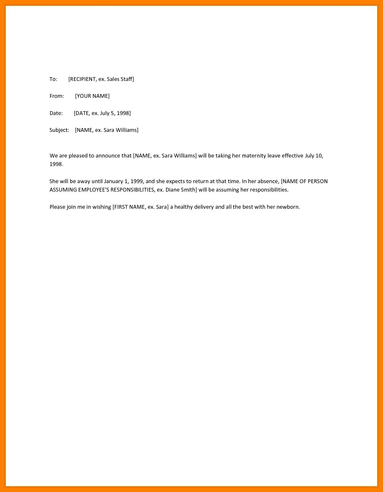 Medical Leave Of Absence Letter Template - Leave Letter format for Employee Best Letter format for Rejoining