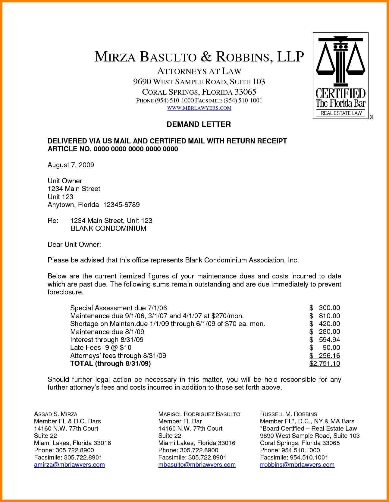 Foreclosure Letter Template - Legal Letter format Pdf New 9 Legal Demand Letter Example