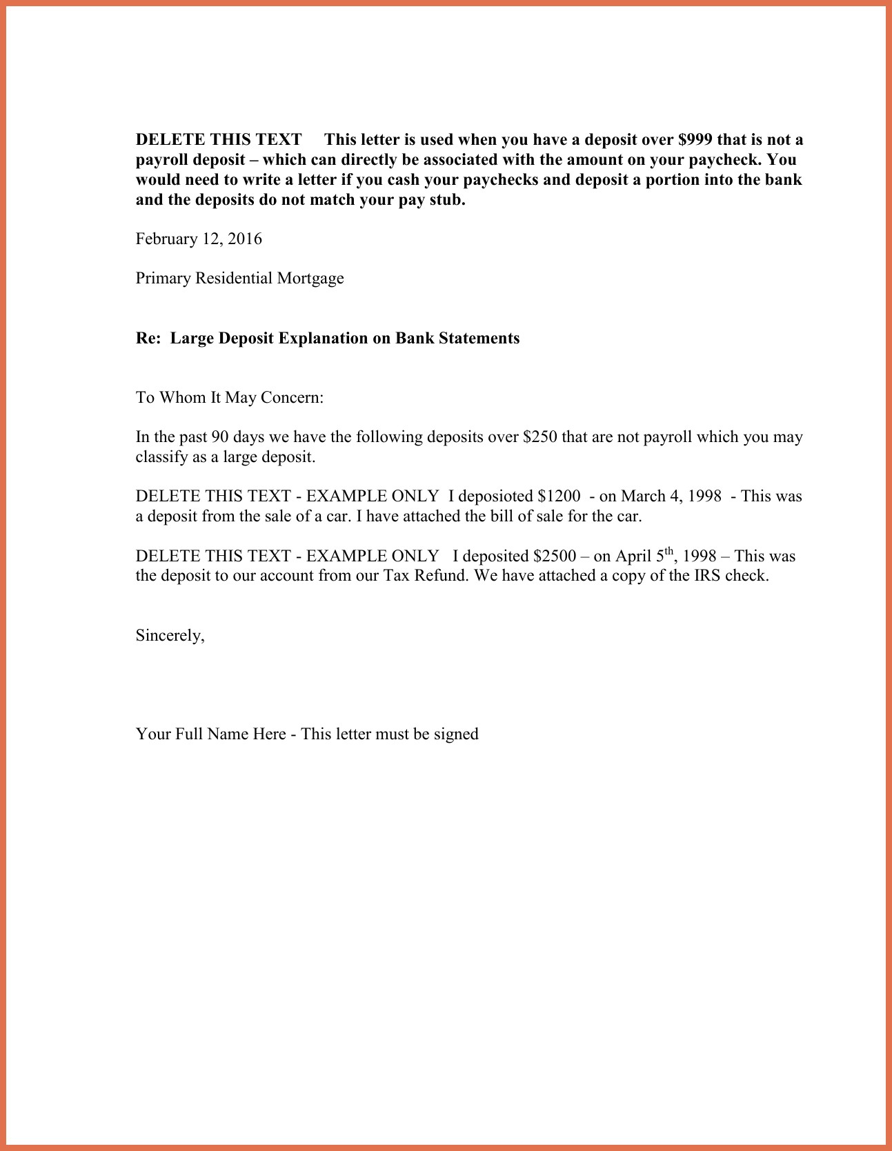 Letter Of Explanation for Cash Out Refinance Template - Letter Explanation format New Letter Explanation Sample New