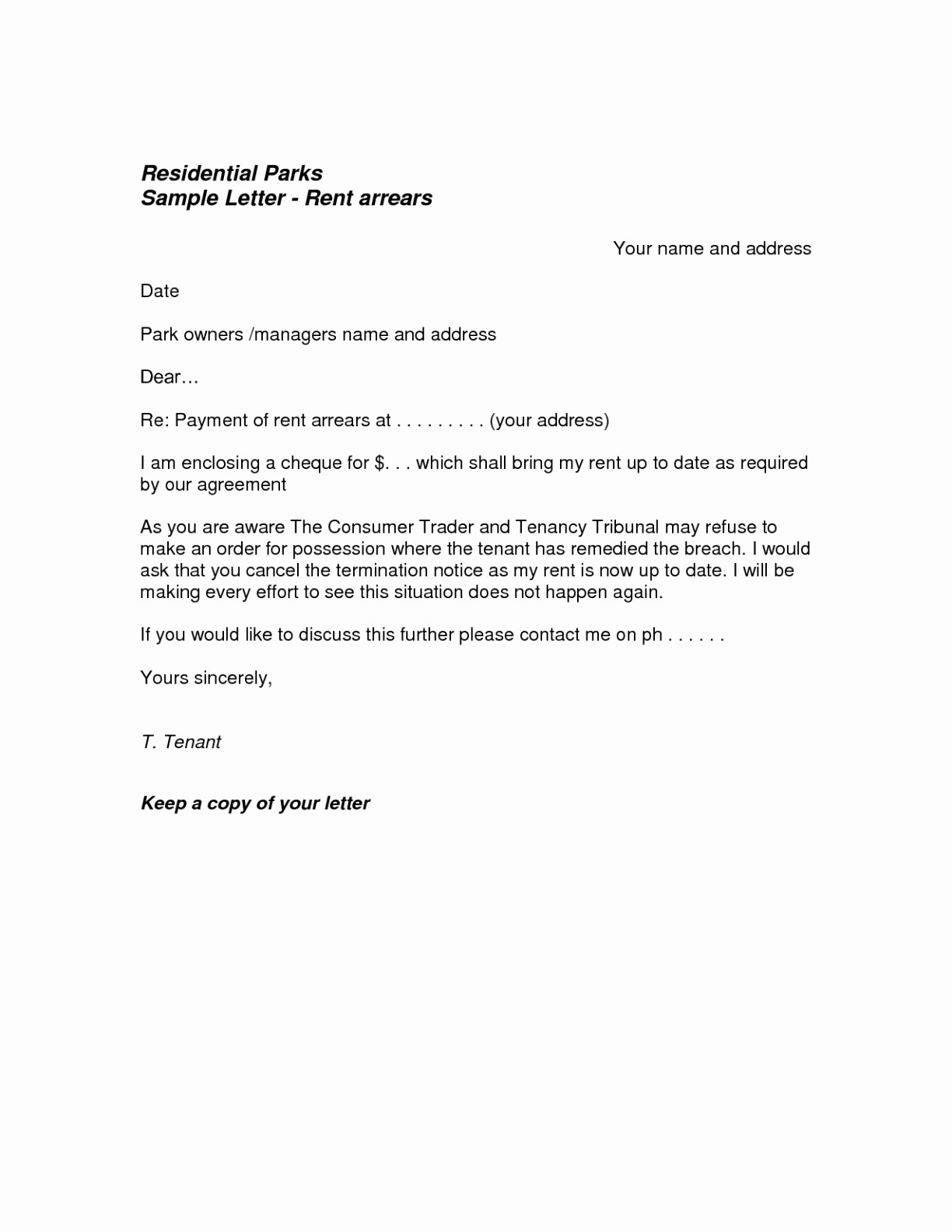 Rental Termination Letter Template - Letter format for Agreement Termination Refrence Contract