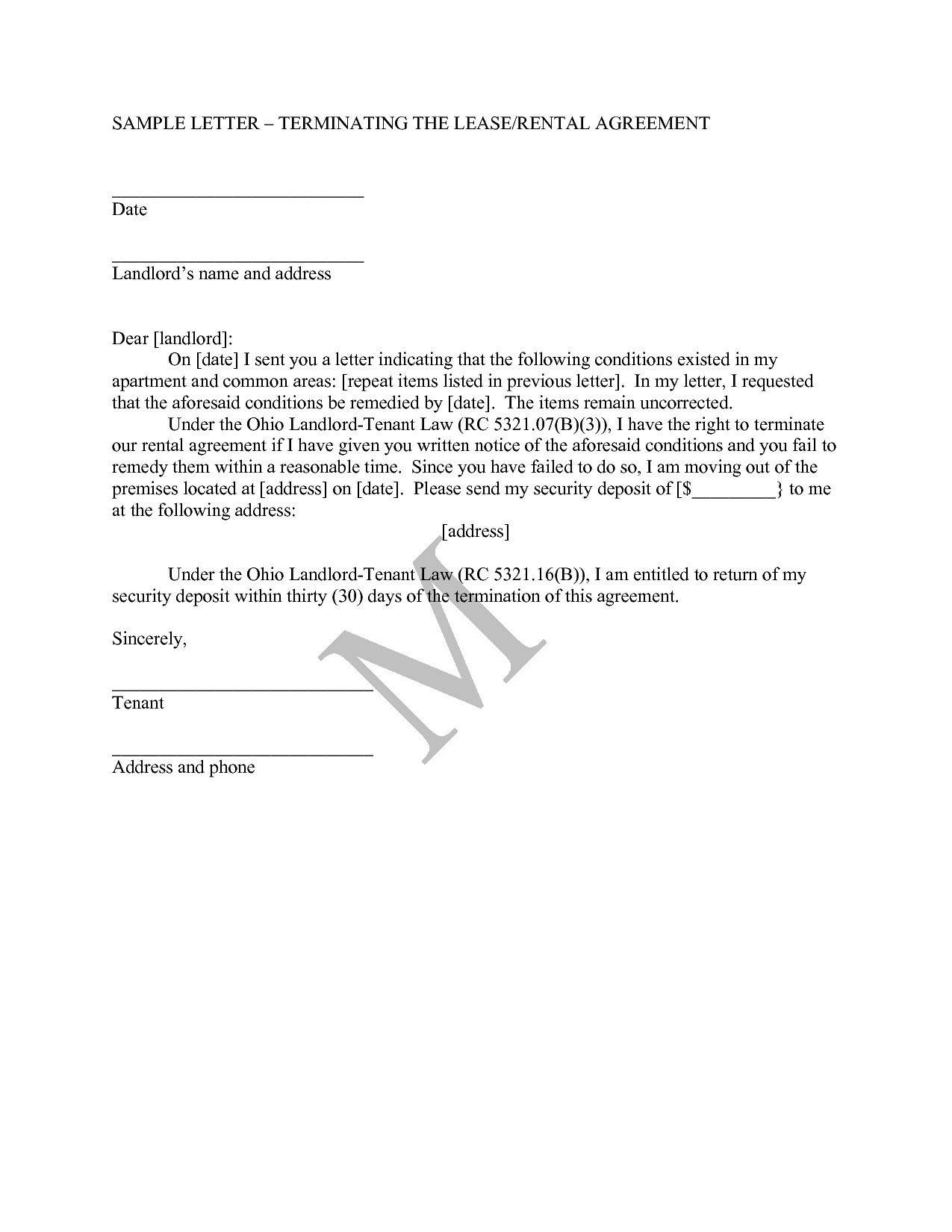 Landlord agreement letter template examples letter templates landlord agreement letter template maxwellsz
