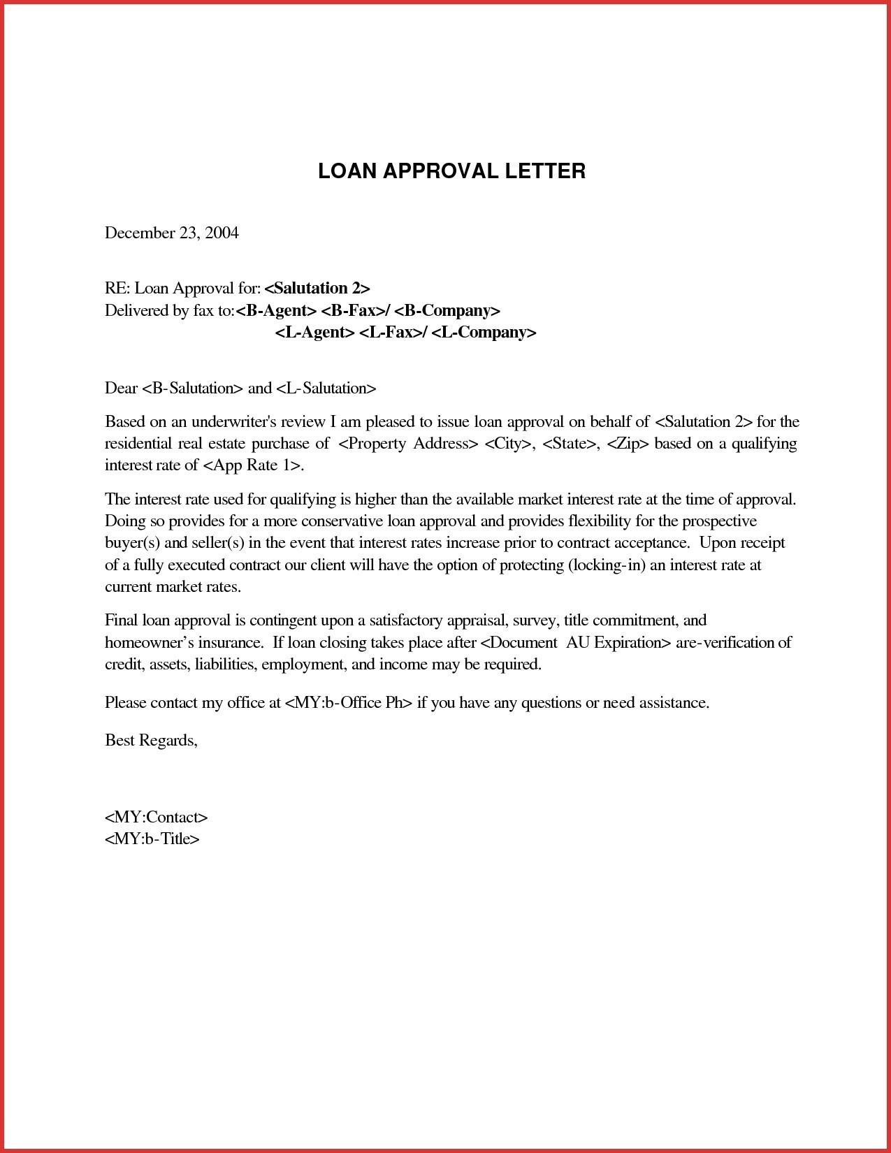 Mortgage Loan Approval Letter Template - Letter format for Loan Request From Employer New Loan Request Letter