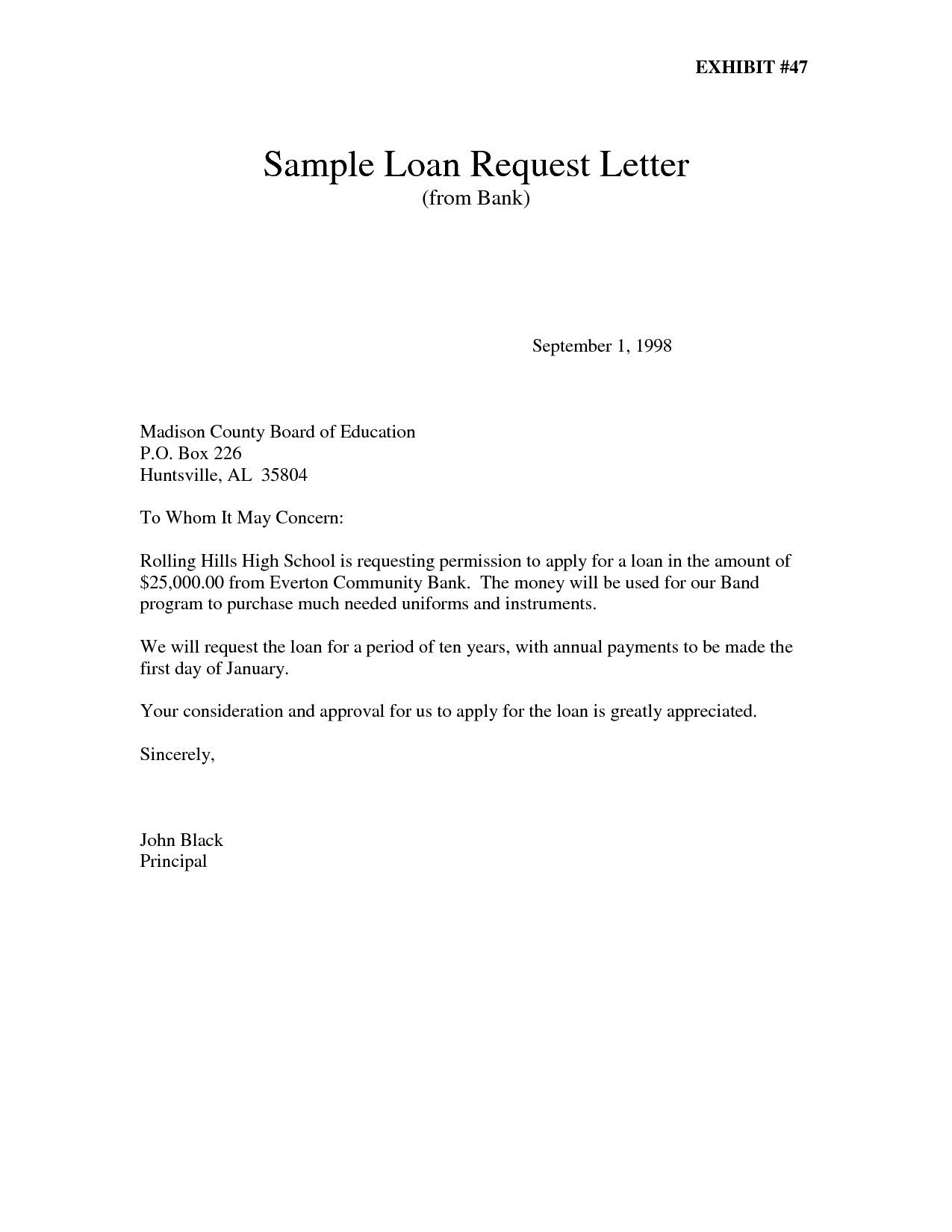 Personal Loan Repayment Letter Template - Letter format Loan Request Refrence Sample Loan Reques Letter