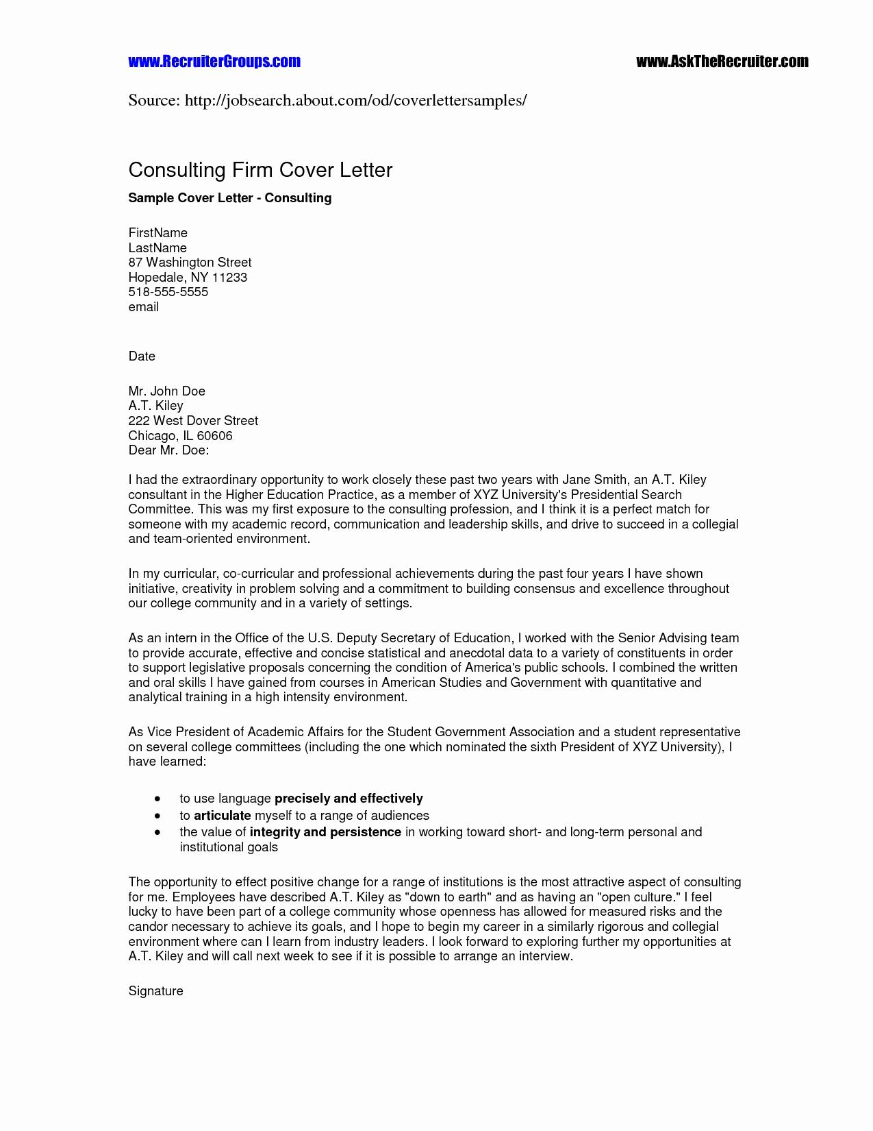 Generic Letter Of Intent Template - Letter Intent format Elegant How to format A Cover Letter 32