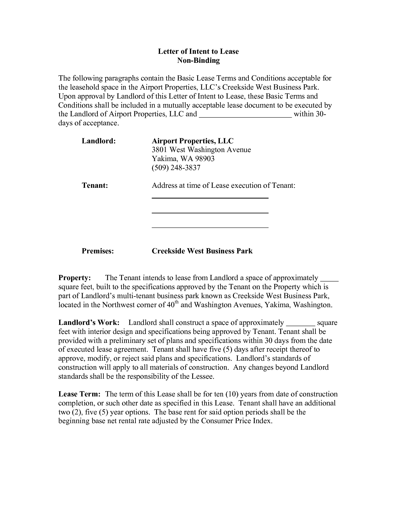 Commercial Real Estate Lease Letter Of Intent Template - Letter Intent Real Estate Lease Hd Best Ideas Sample Nice